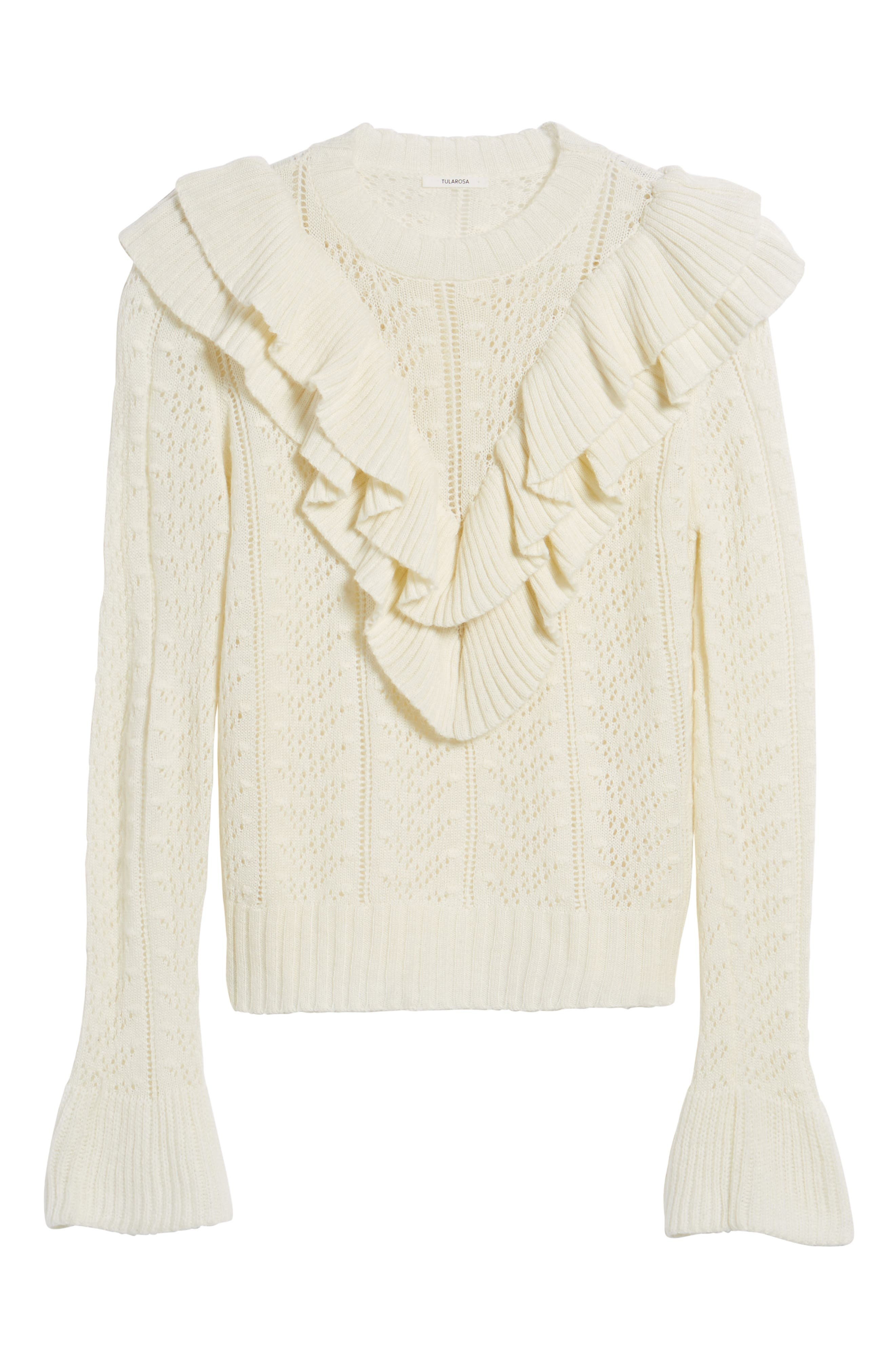 Manny Ruffle Sweater,                             Alternate thumbnail 6, color,                             900