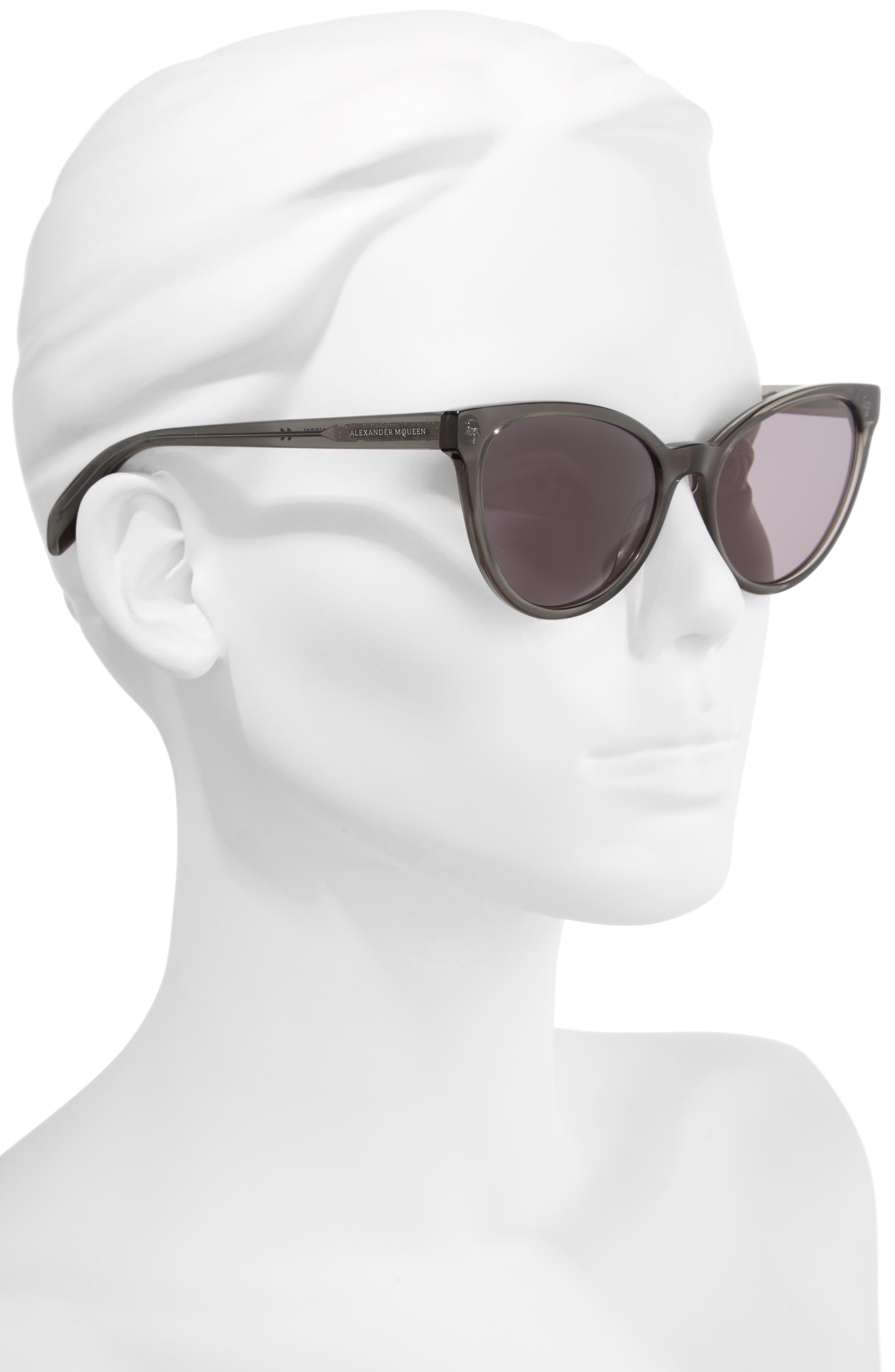55mm Cat Eye Sunglasses,                             Alternate thumbnail 2, color,                             020