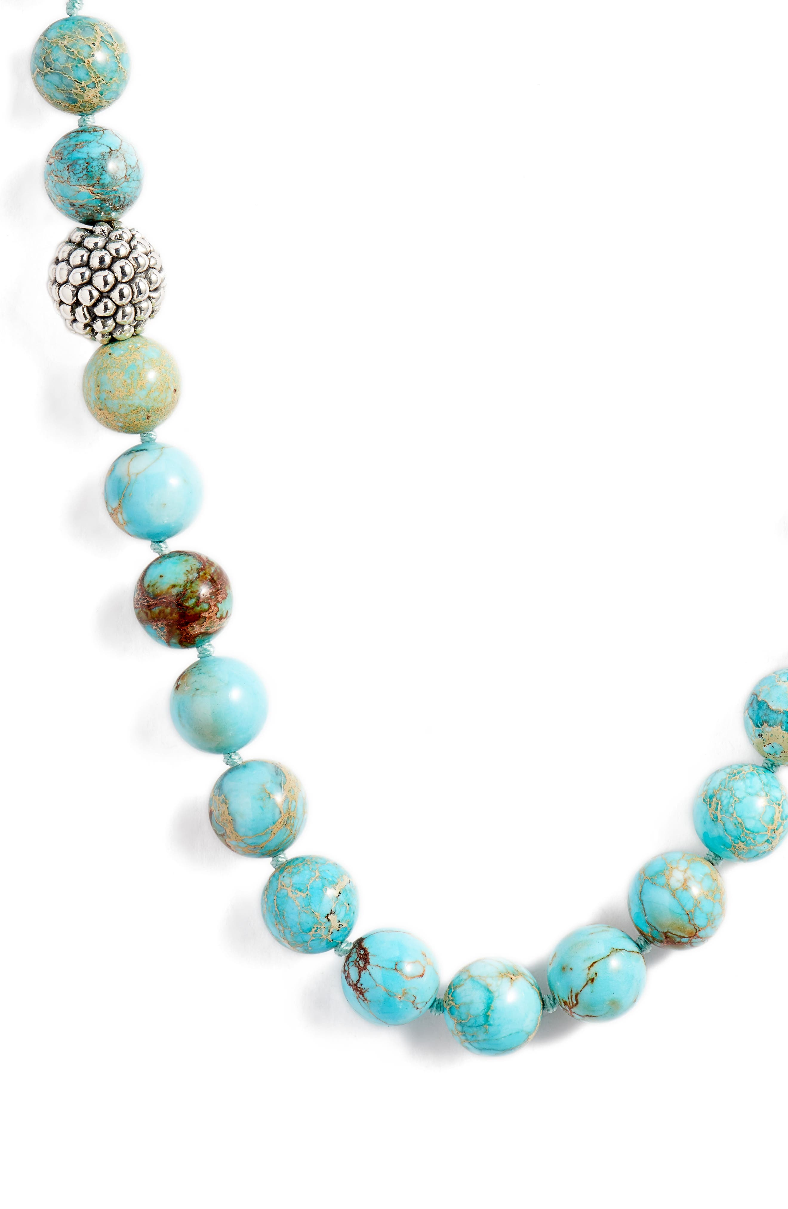 Silver Accent Beaded Necklace,                             Main thumbnail 1, color,