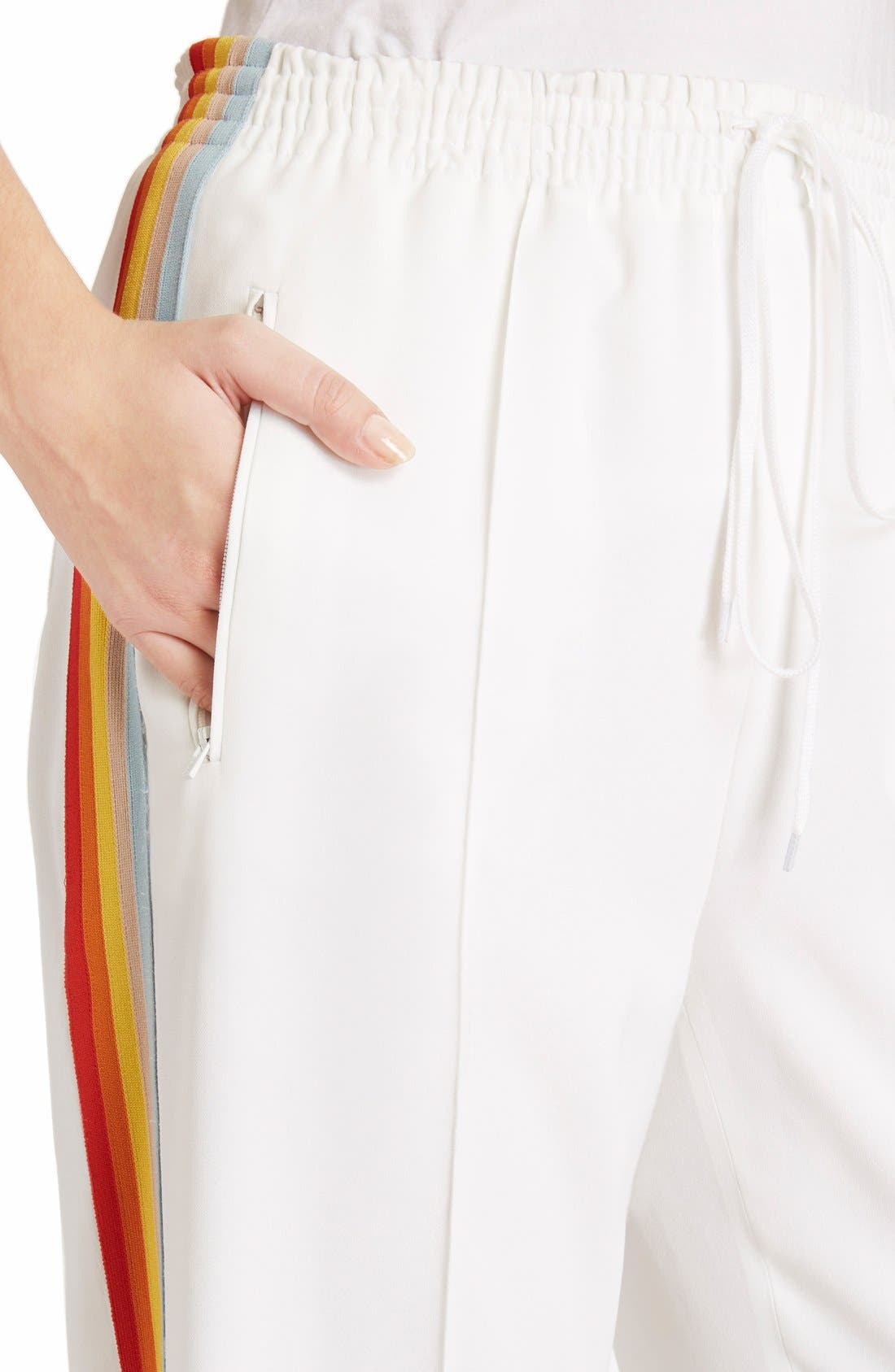 Rainbow Stripe Track Pants,                             Alternate thumbnail 6, color,