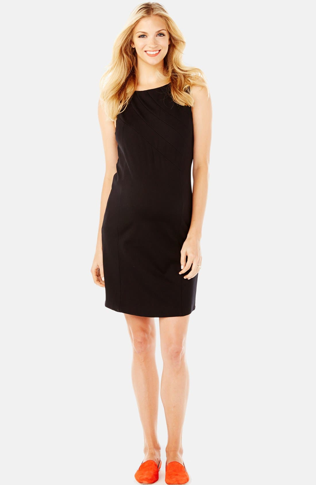 'Claire' Ponte Knit Maternity Dress,                         Main,                         color, 001