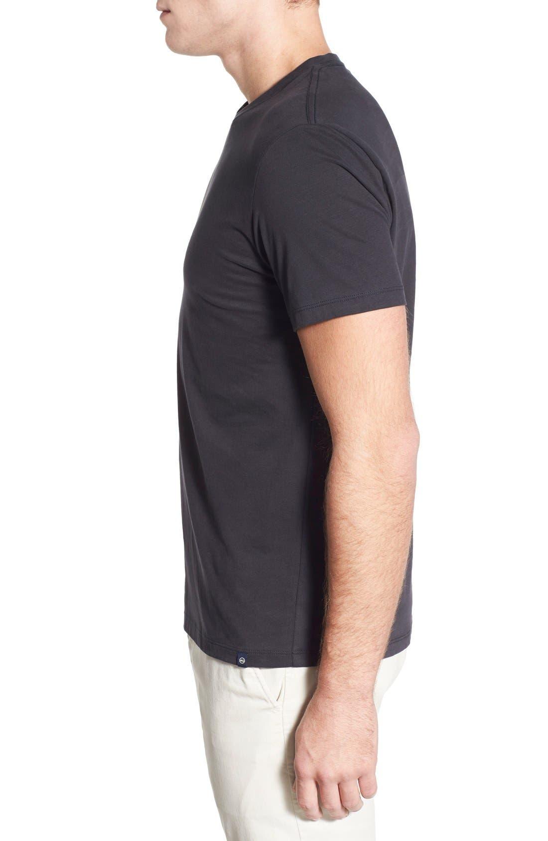 'Cliff' Crewneck T-Shirt,                             Alternate thumbnail 5, color,                             010