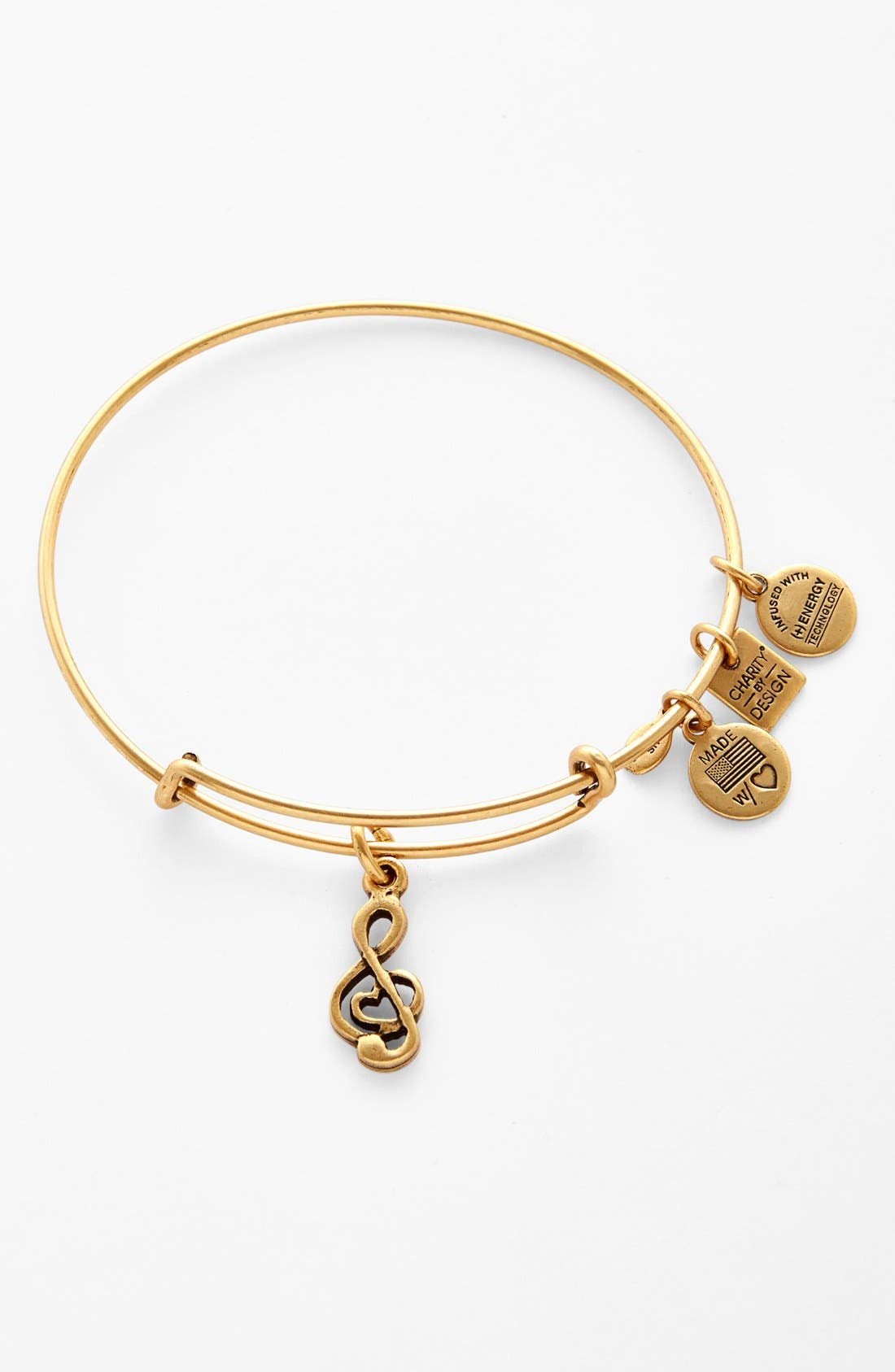 'Charity by Design - Sweet Melody' Expandable Wire Bangle,                             Main thumbnail 2, color,