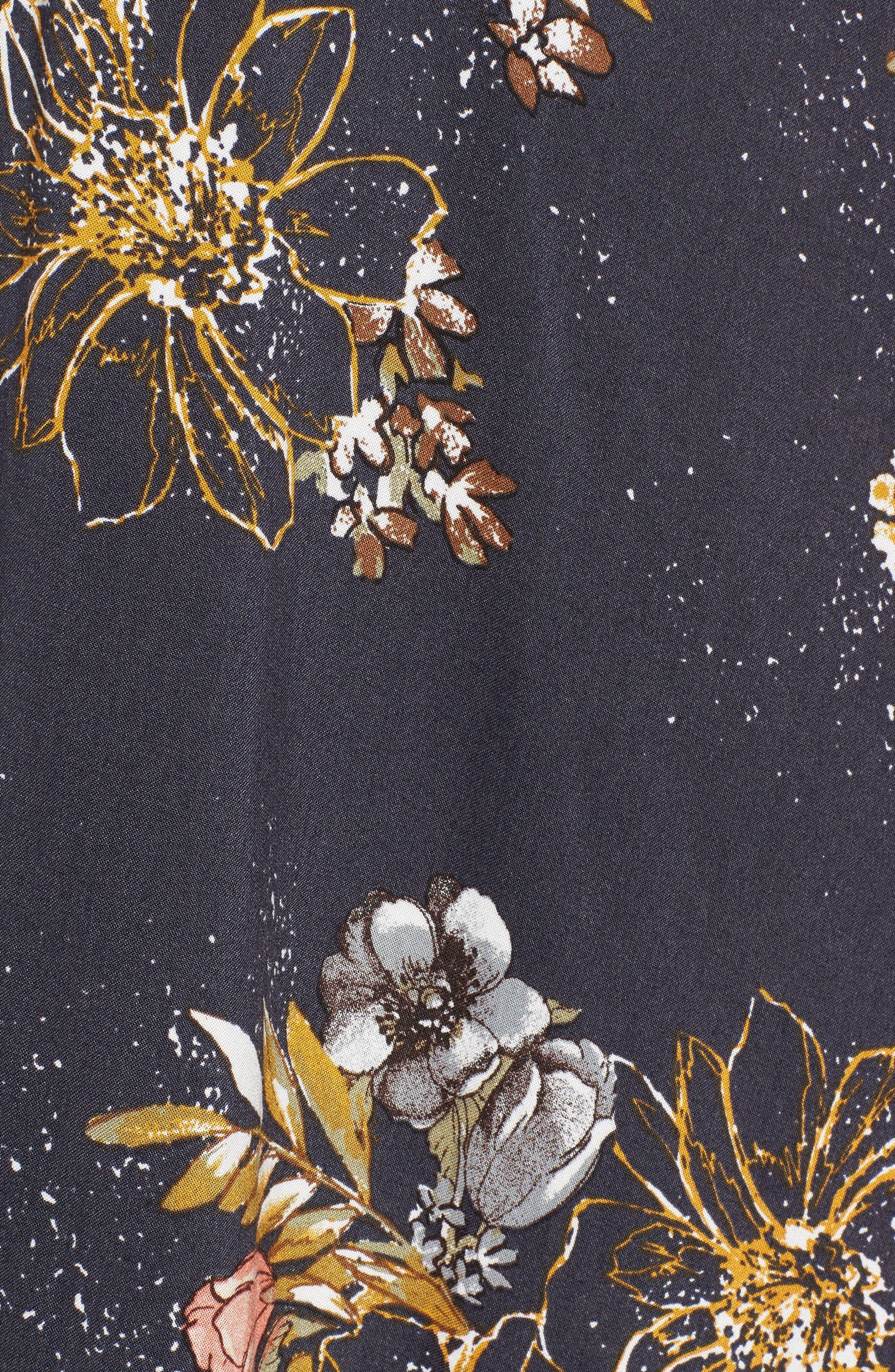 BP.,                             Floral Print Halter Maxi Dress,                             Alternate thumbnail 6, color,                             410