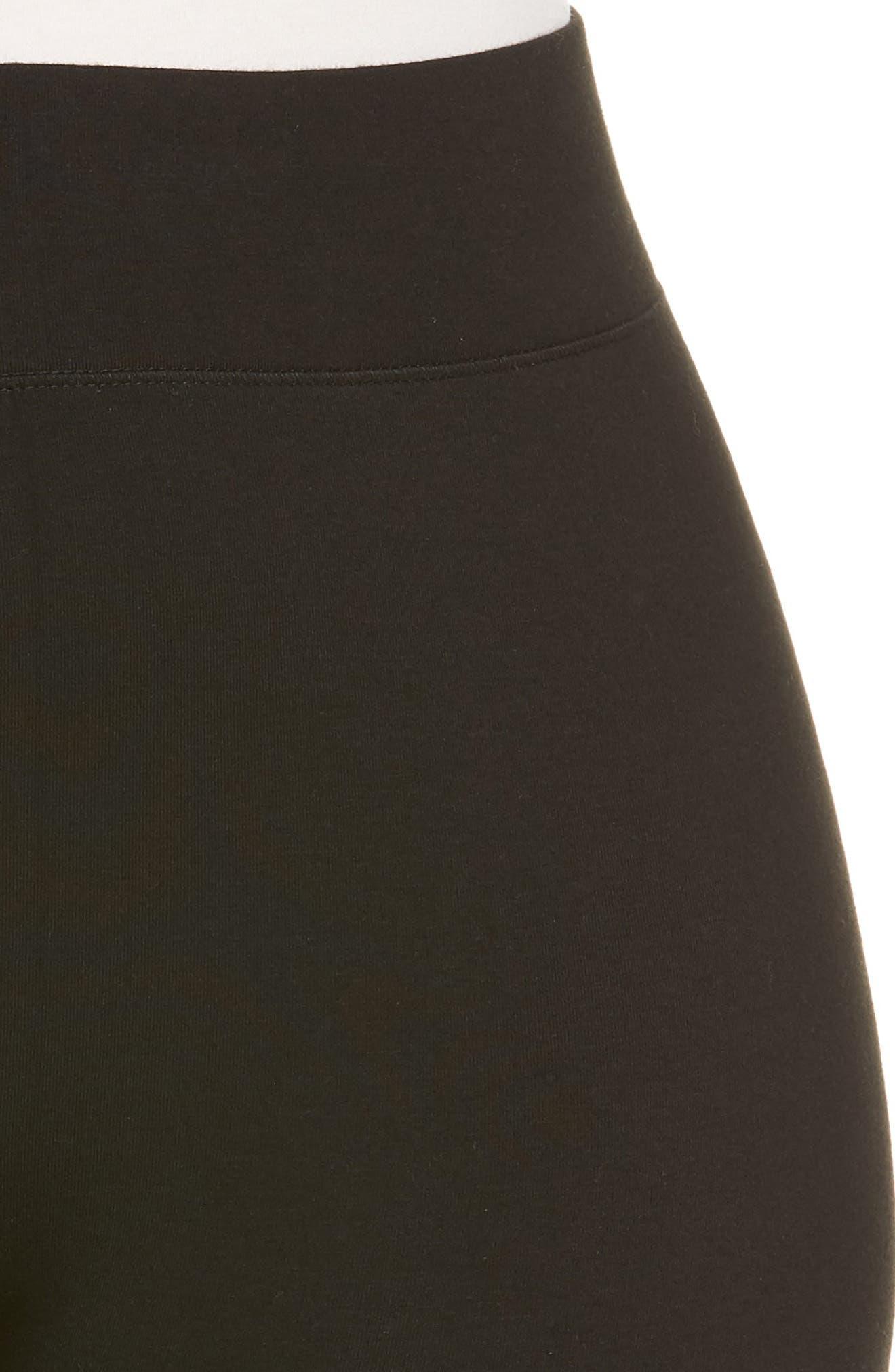 High Rise Leggings,                             Alternate thumbnail 4, color,                             BLACK
