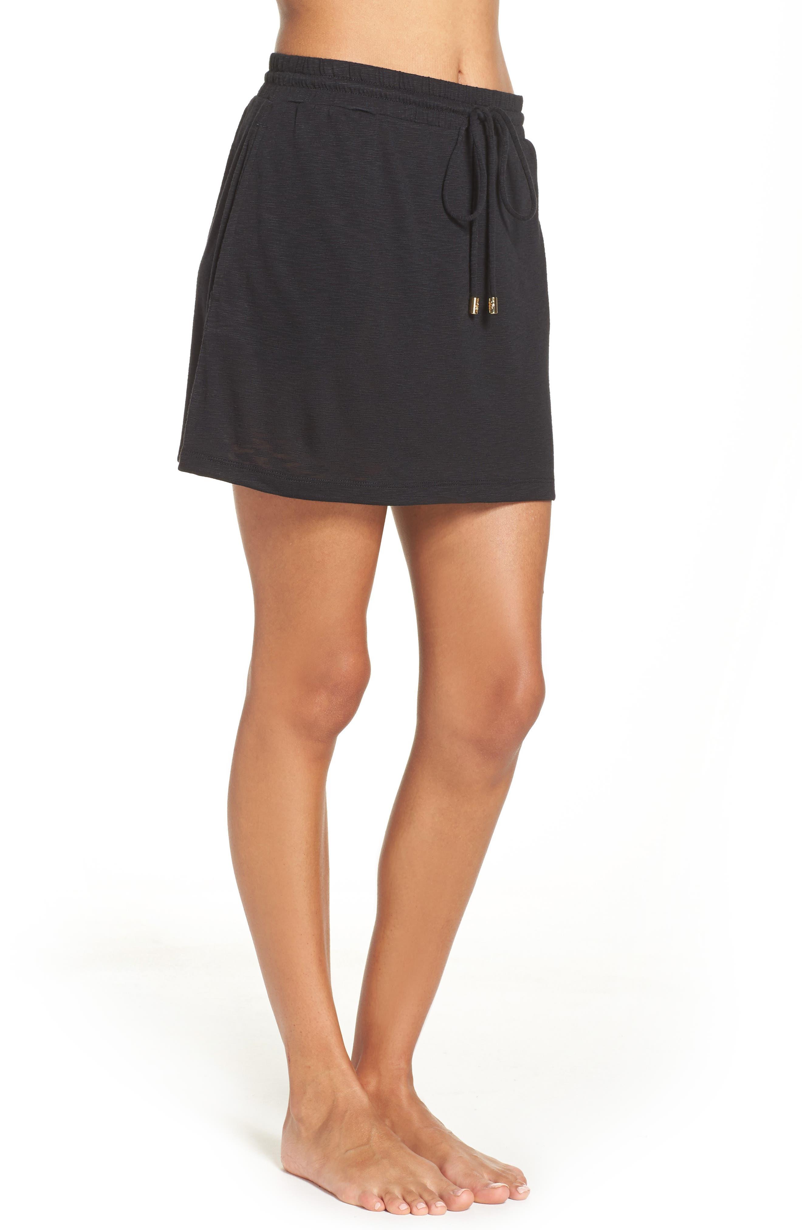 TOMMY BAHAMA,                             Cover-Up Skirt,                             Alternate thumbnail 3, color,                             BLACK
