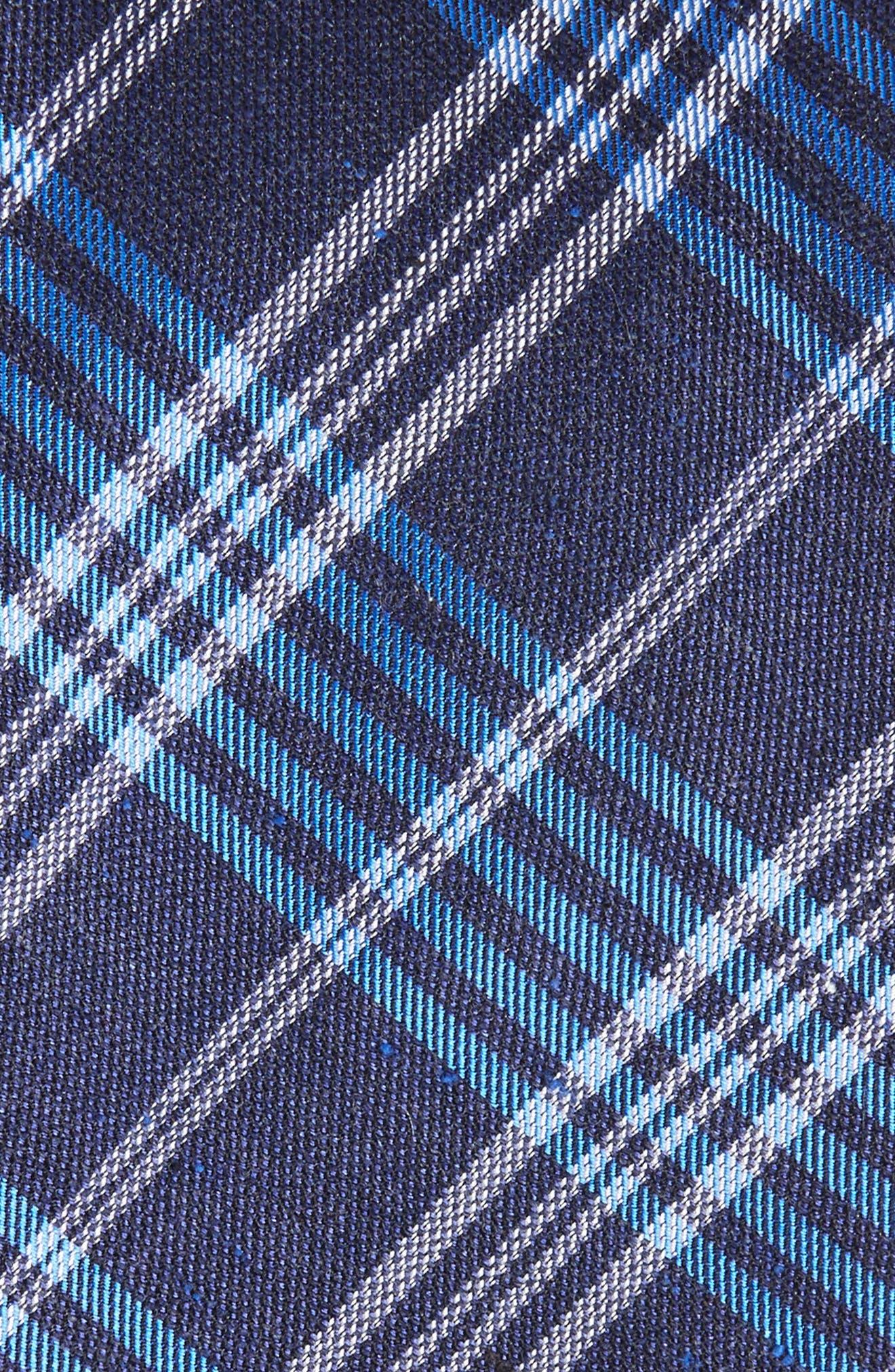 School Plaid Silk & Cotton Tie,                             Alternate thumbnail 5, color,