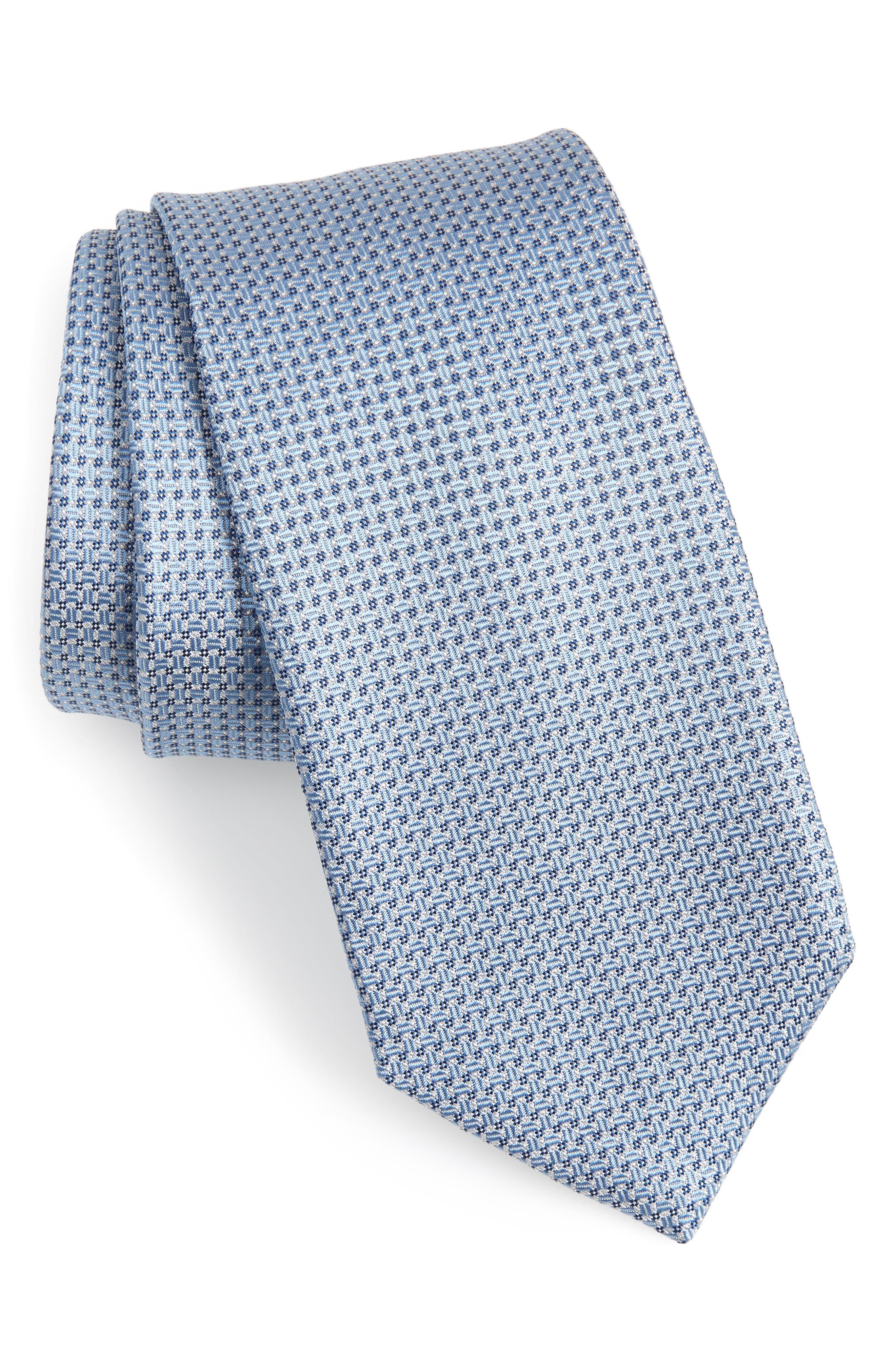 Solid Silk Tie,                         Main,                         color, 412