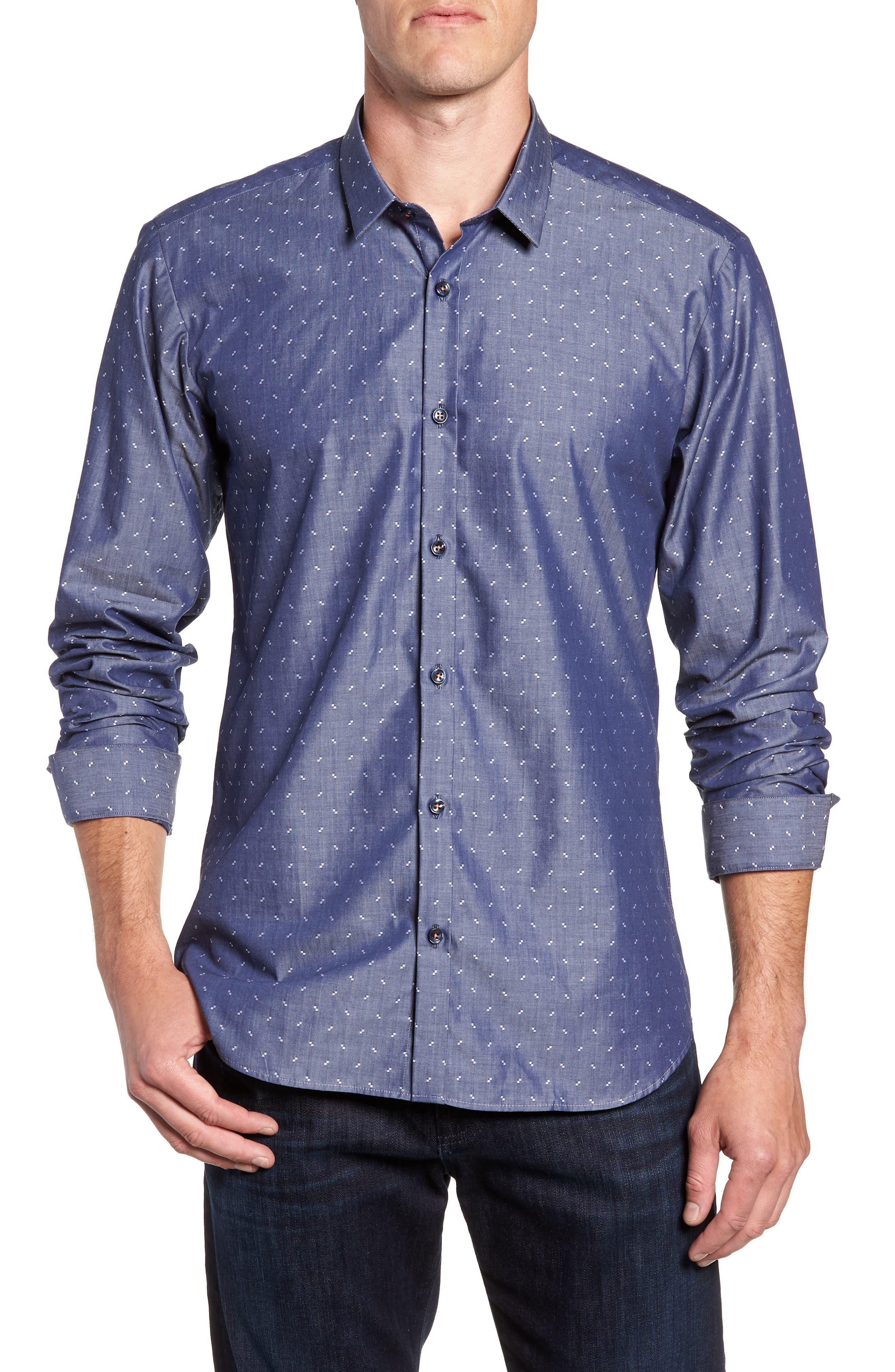 Trim Fit Sport Shirt,                             Main thumbnail 1, color,