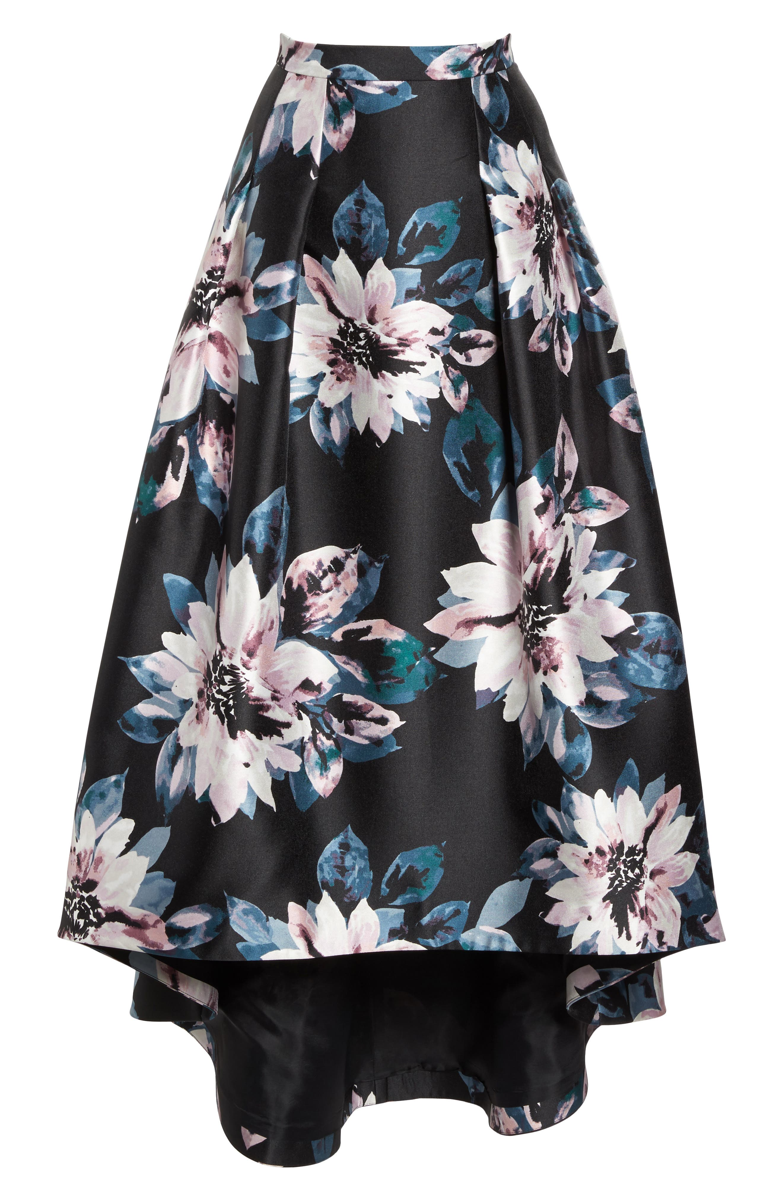 Floral High/Low Skirt,                             Alternate thumbnail 6, color,                             006