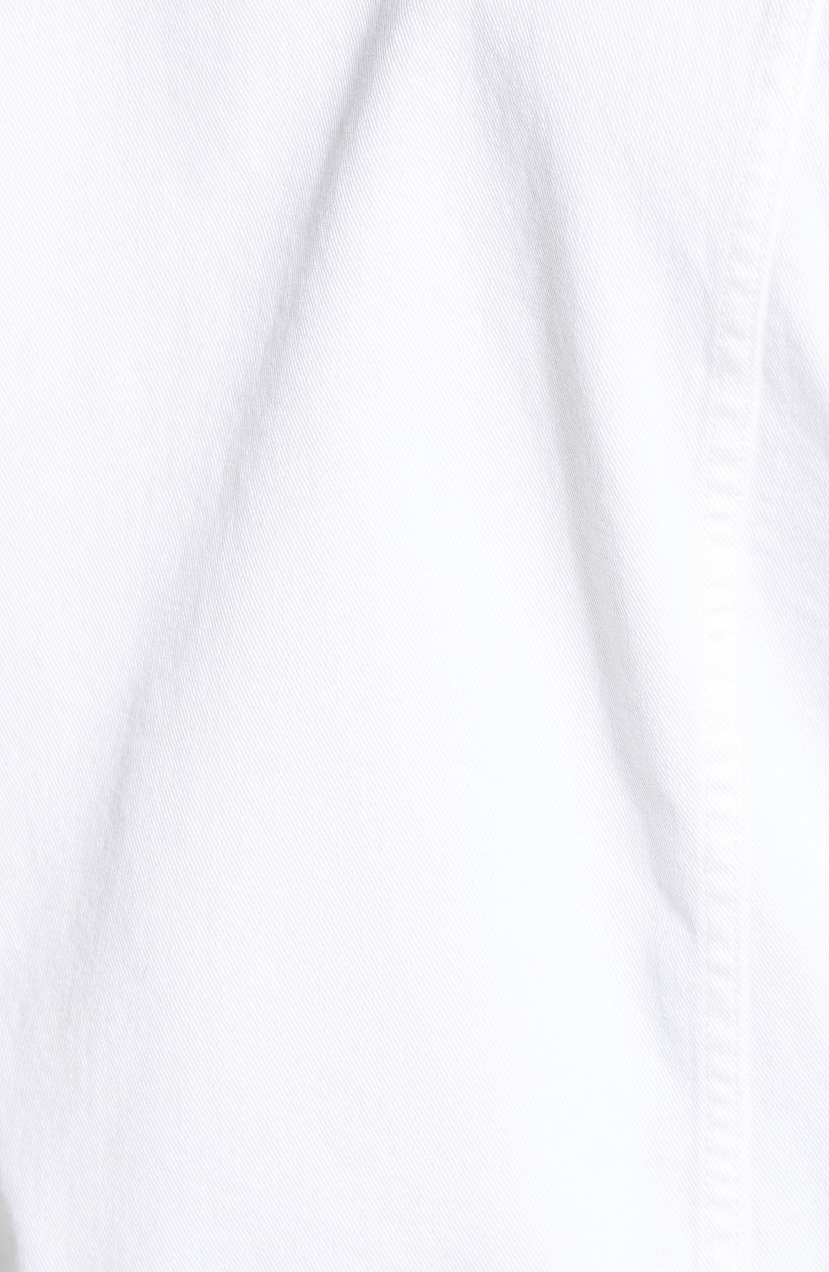 Denim Jacket,                             Alternate thumbnail 6, color,                             WHITE