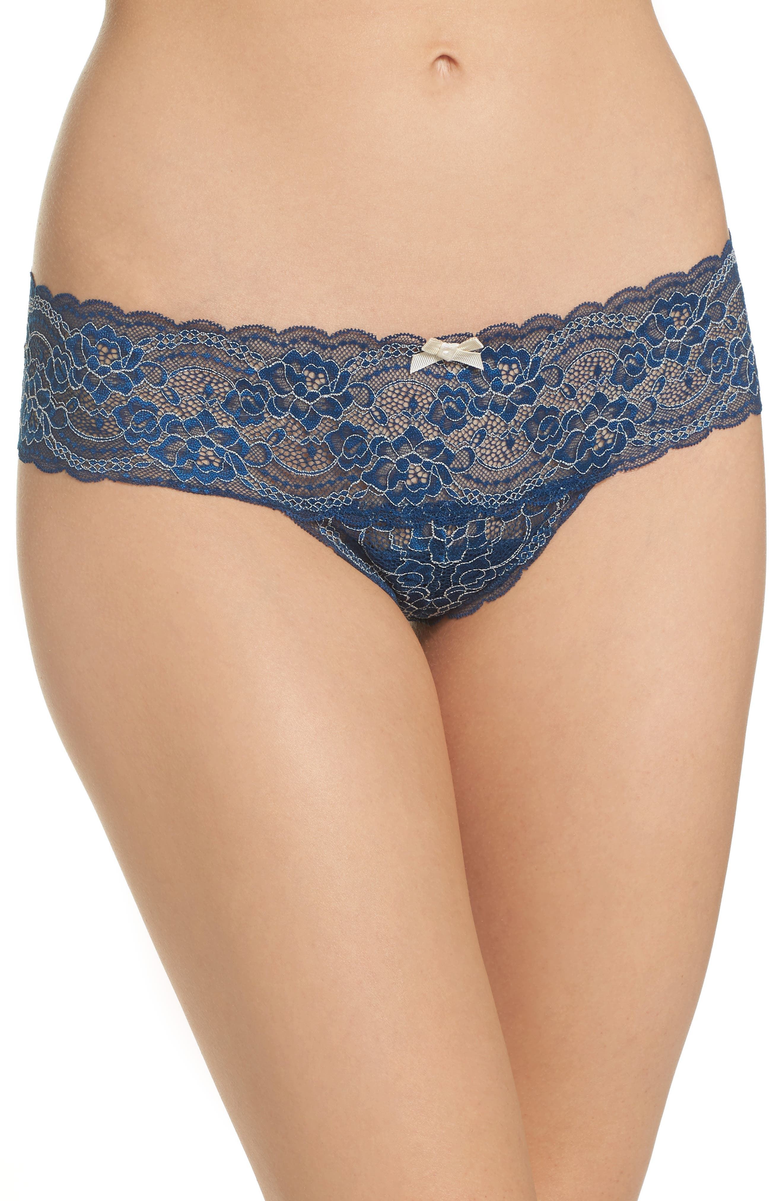 'Obsessed' Lace Thong,                         Main,                         color, 422