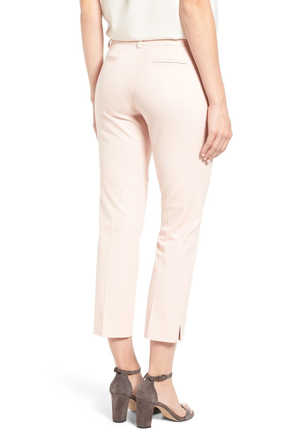 Crop Stretch Cotton Pants,                             Alternate thumbnail 85, color,