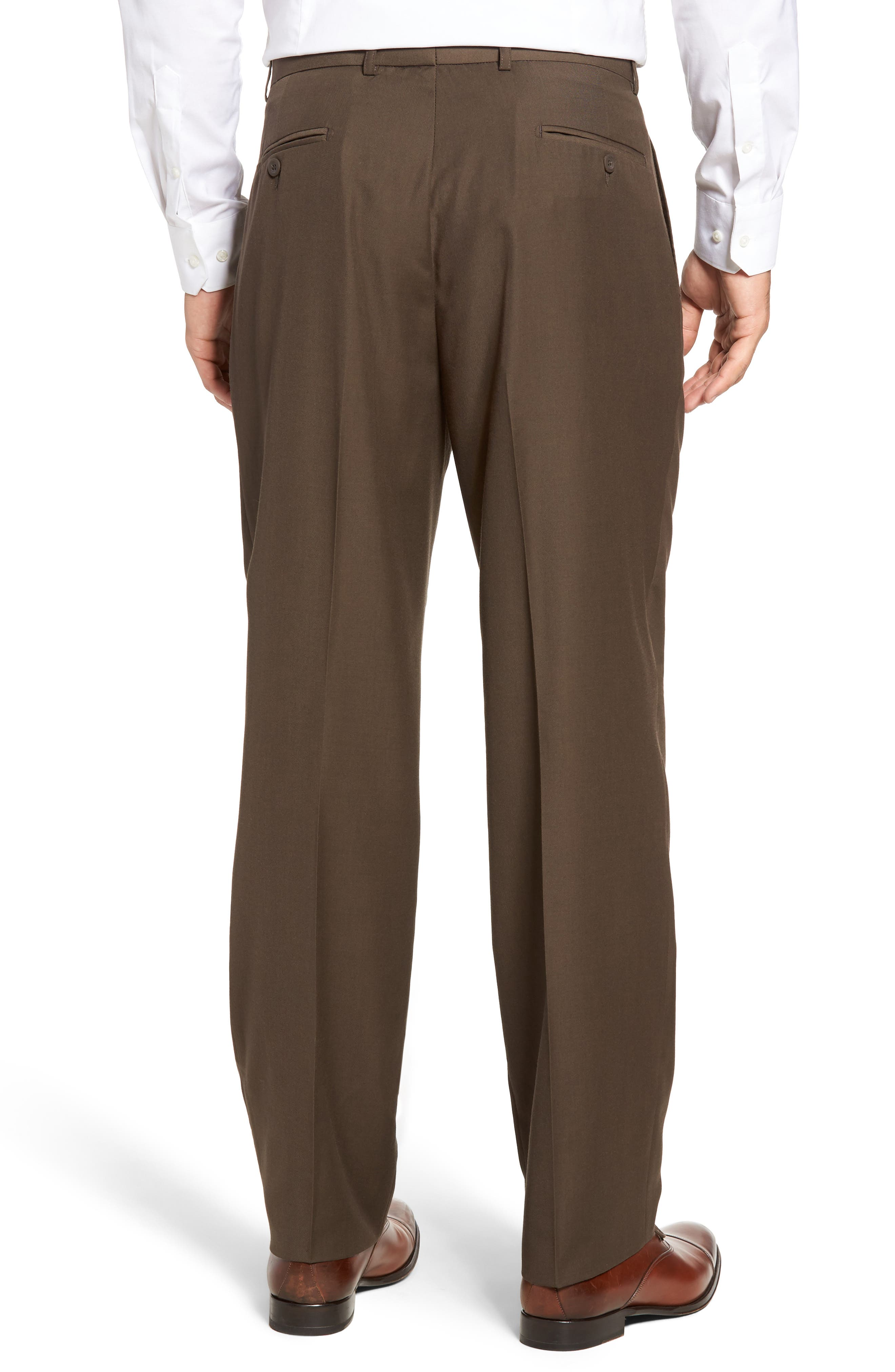 Pleated Microfiber Dress Pants,                             Alternate thumbnail 15, color,