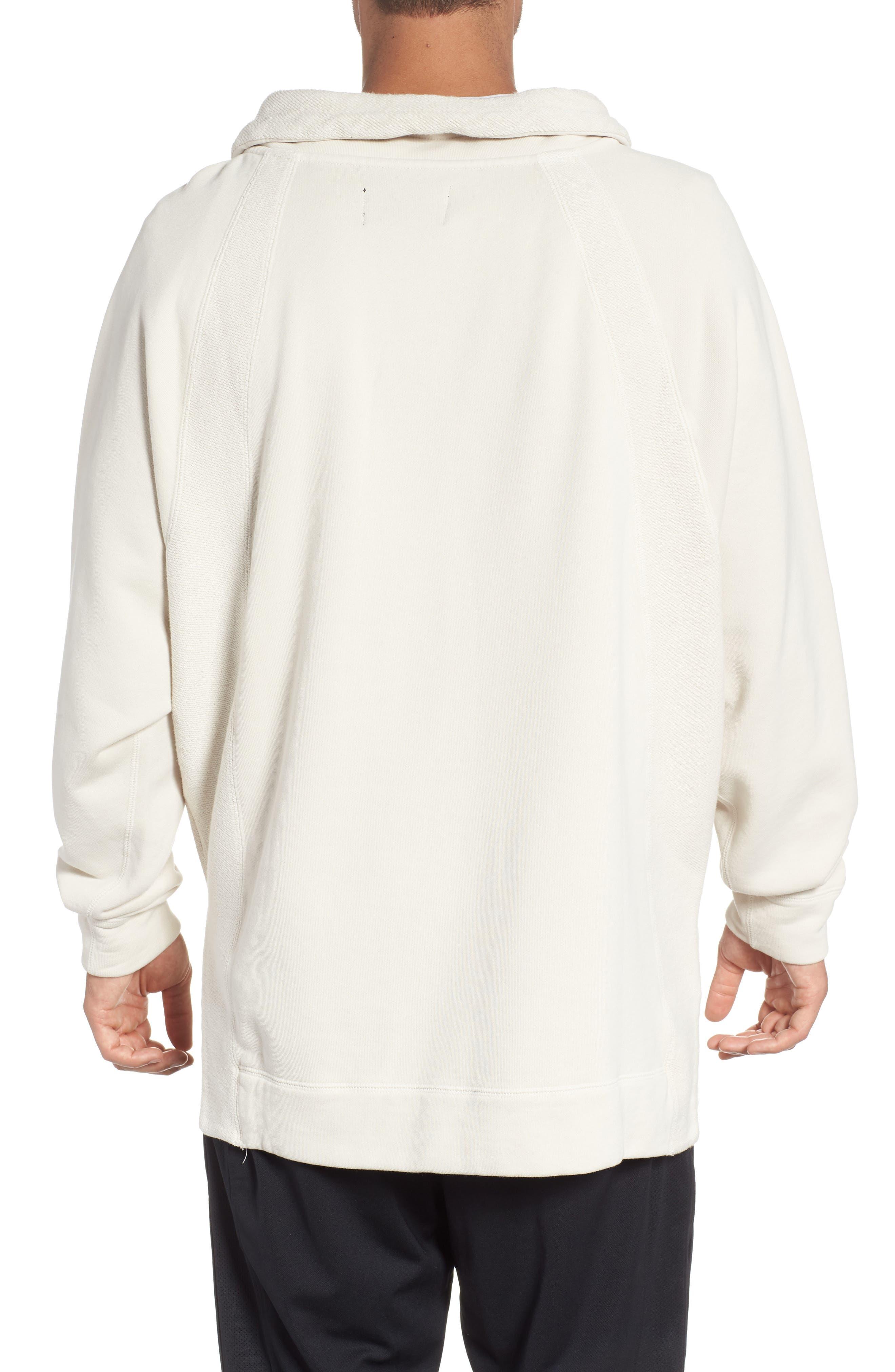 Jordan Wings Washed Quarter Zip Sweatshirt,                             Alternate thumbnail 2, color,                             LIGHT BONE