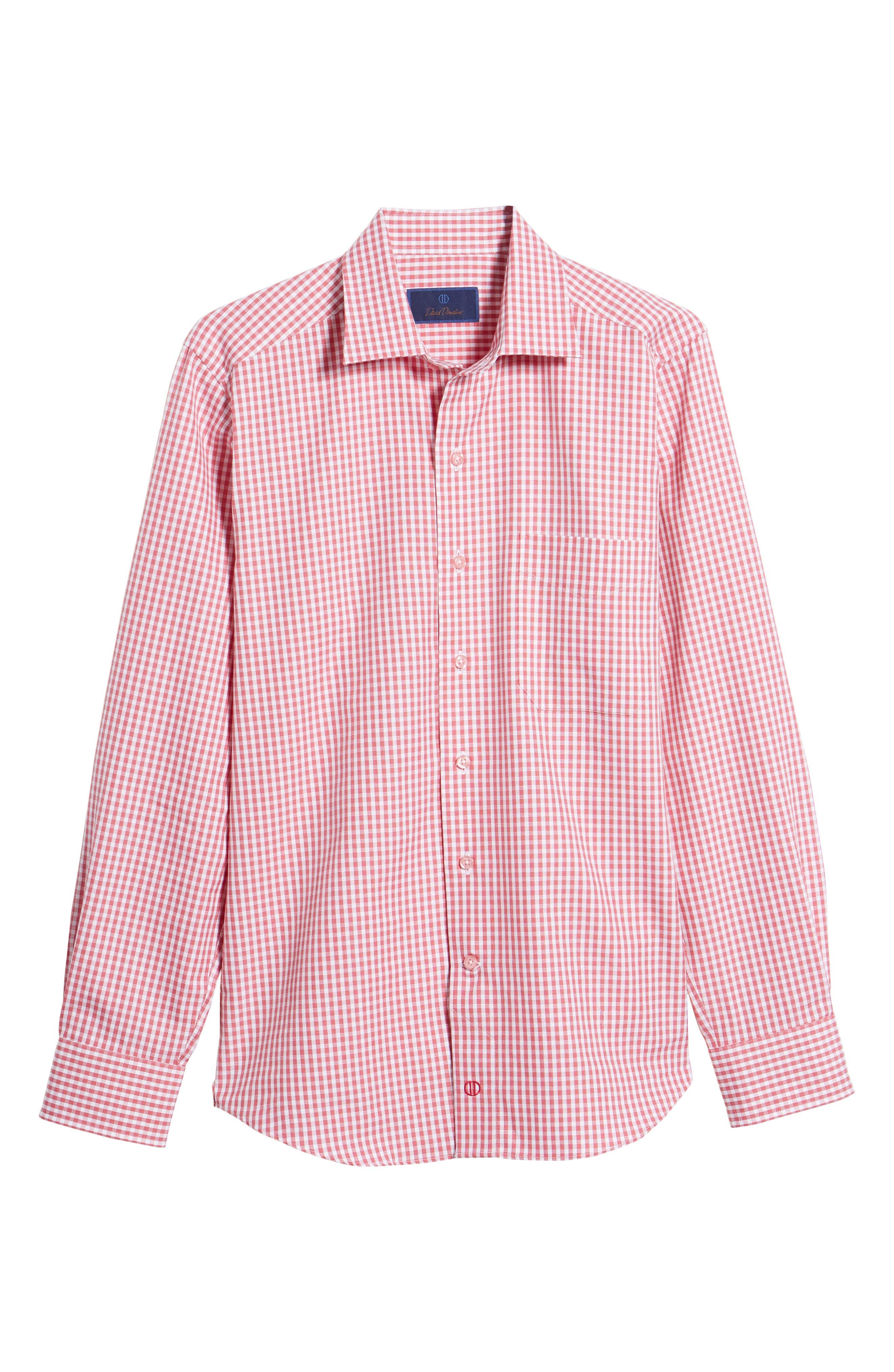 Check Cotton Sport Shirt,                             Alternate thumbnail 6, color,                             650