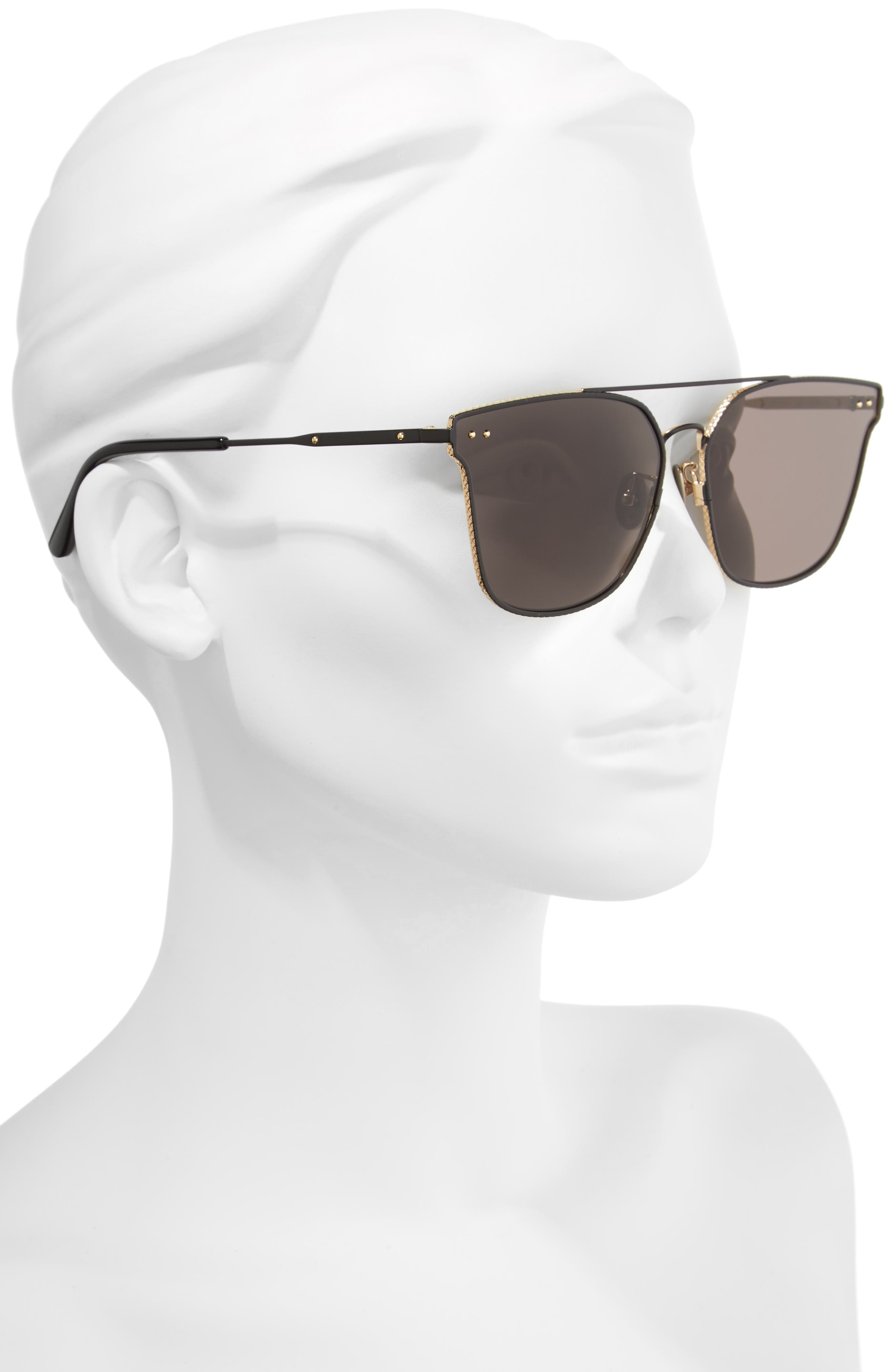 64mm Sunglasses,                             Alternate thumbnail 2, color,                             BLACK