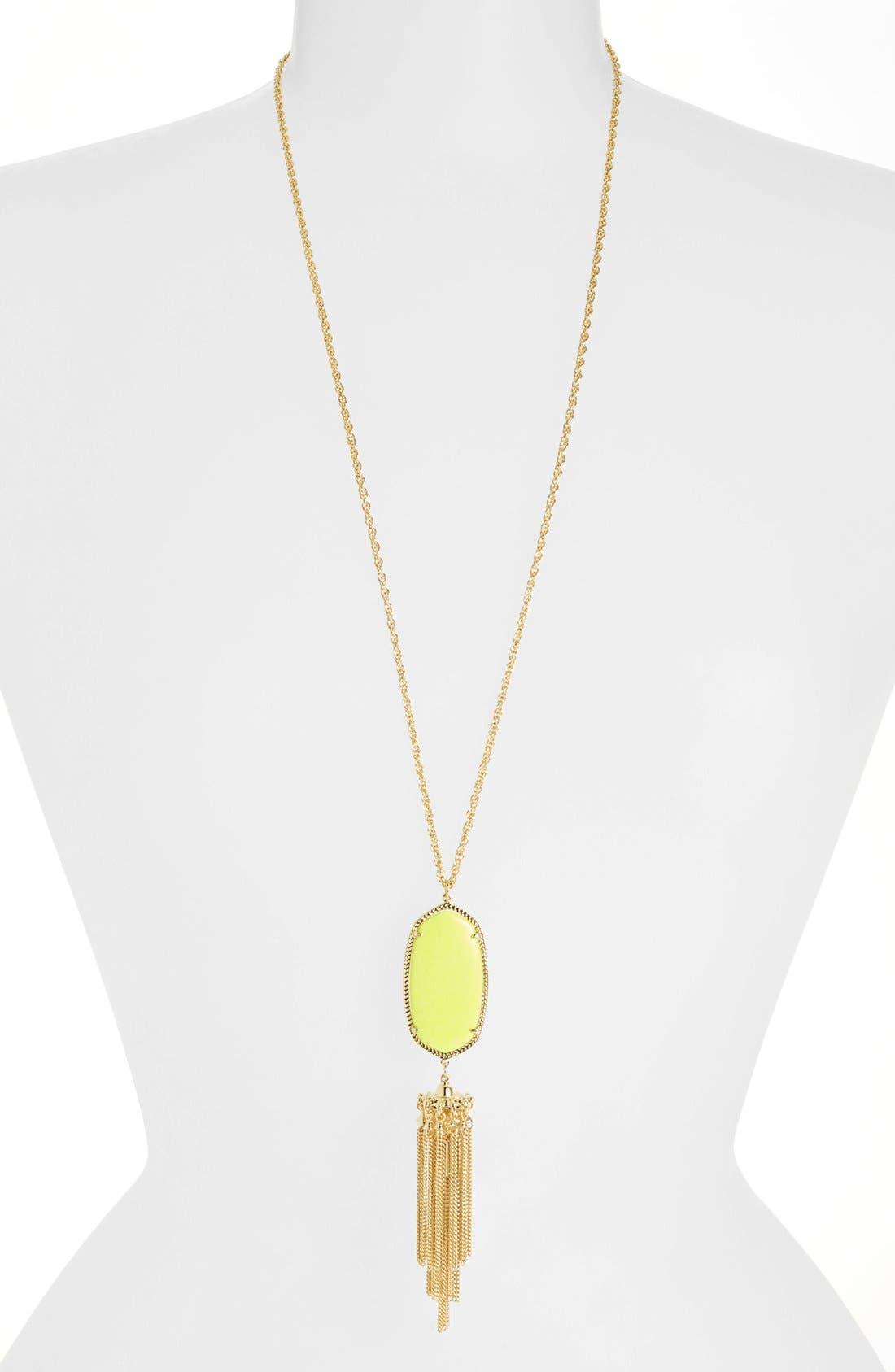 Rayne Stone Tassel Pendant Necklace,                             Main thumbnail 69, color,