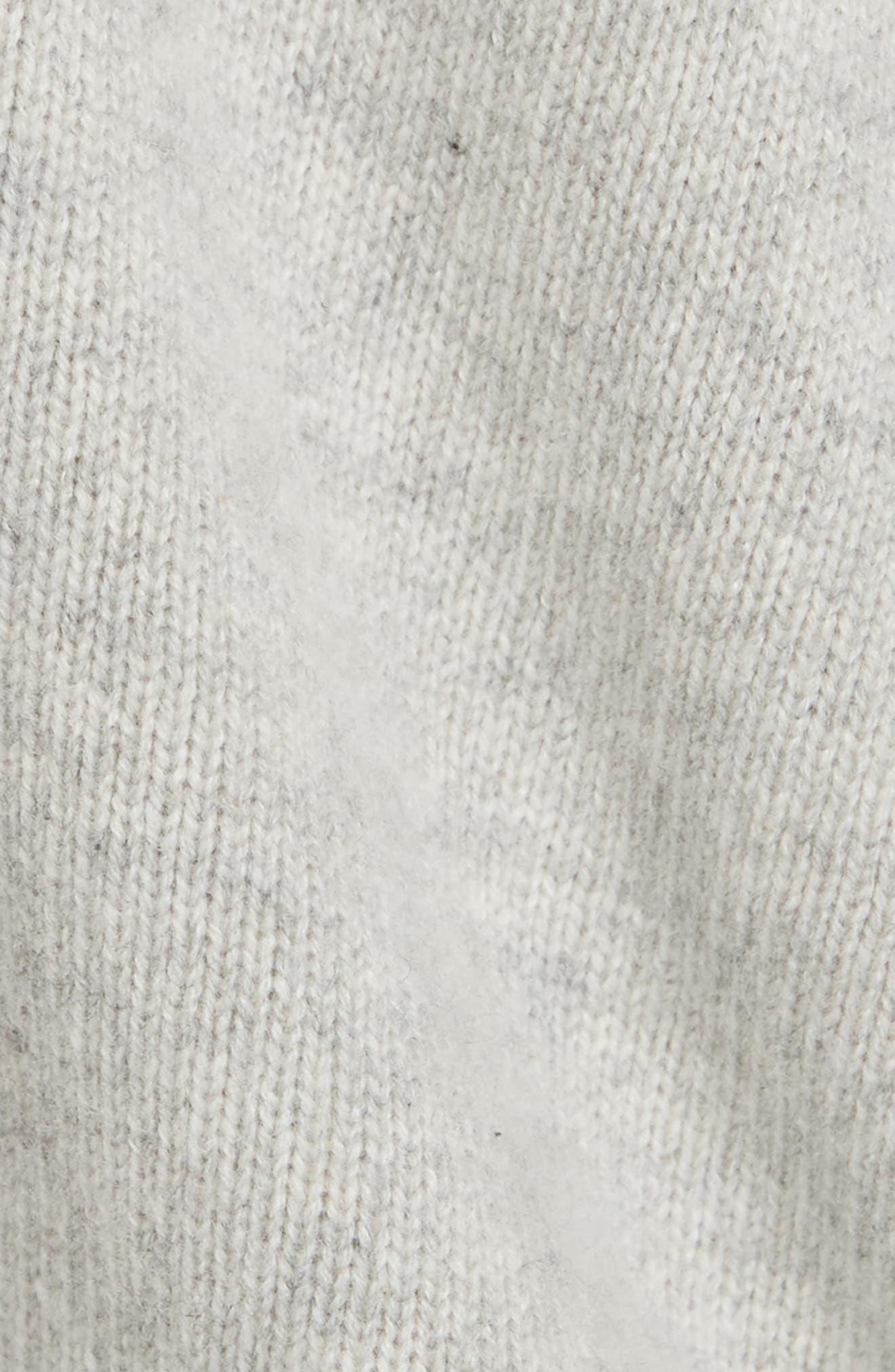 One Shoulder Slit Pullover Sweater,                             Alternate thumbnail 5, color,                             LIGHT HEATHER GREY