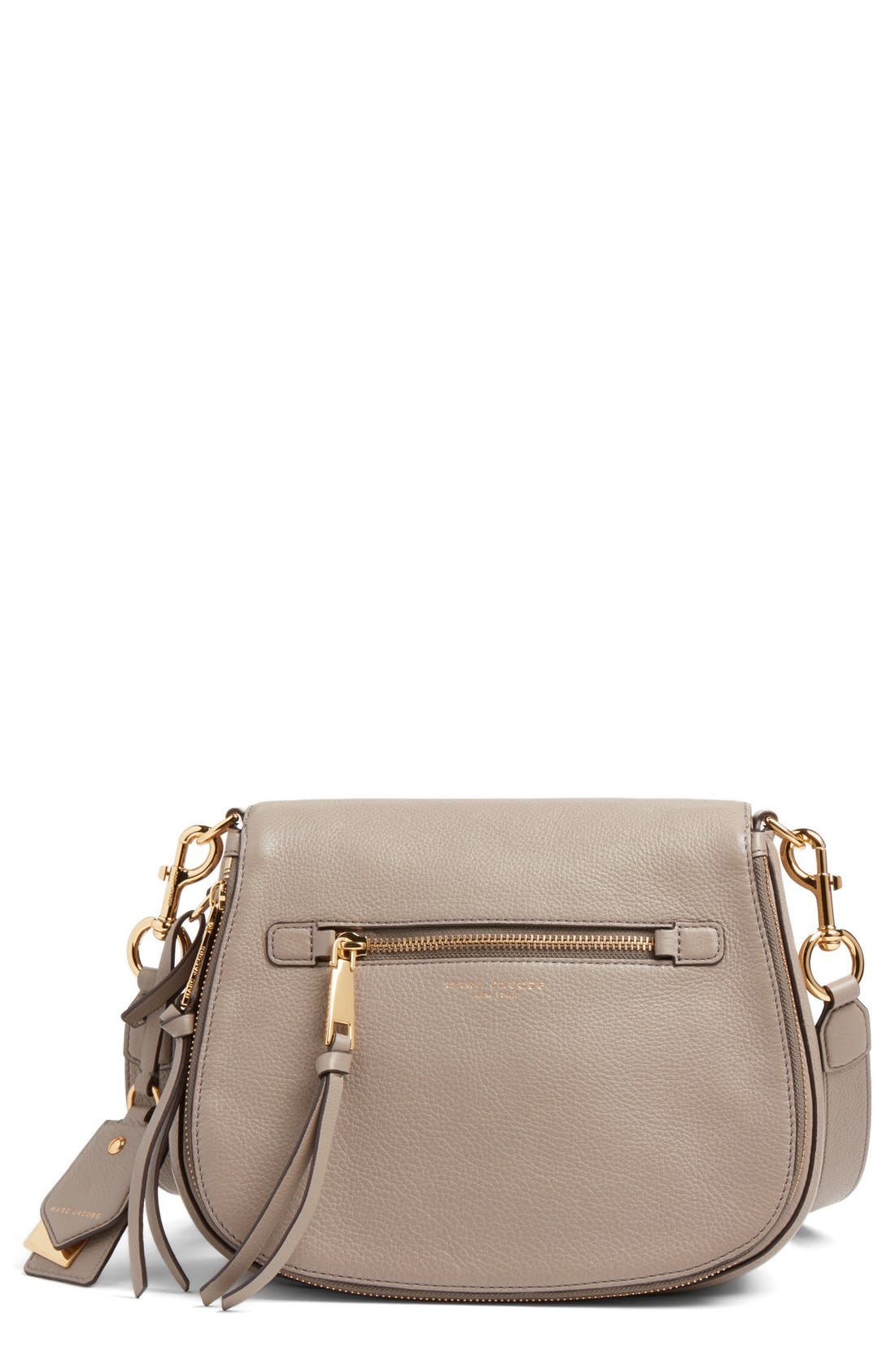 Recruit Nomad Pebbled Leather Crossbody Bag,                         Main,                         color, MINK