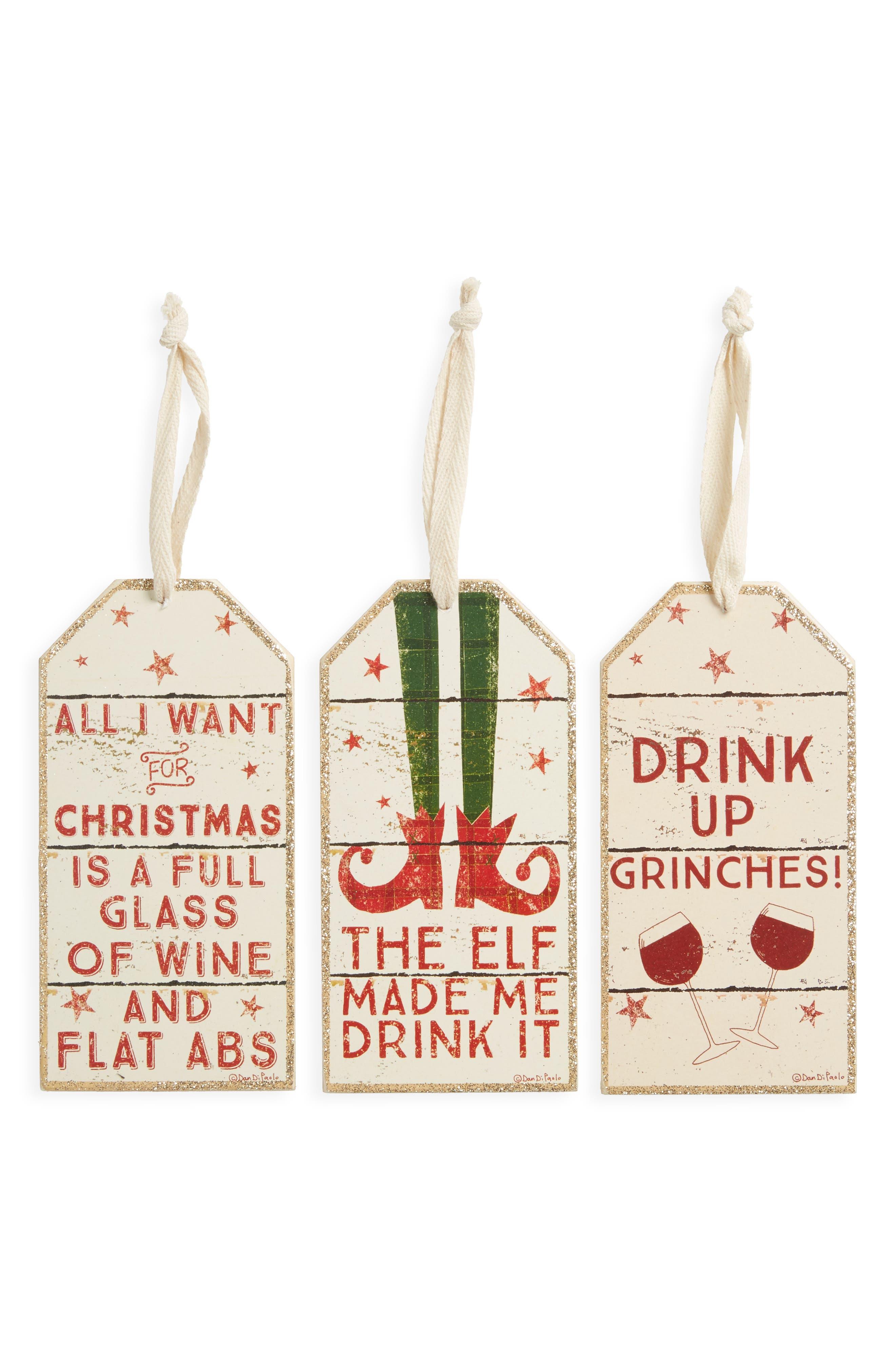 Set of 3 Wine Bottle Tags,                             Main thumbnail 1, color,                             600