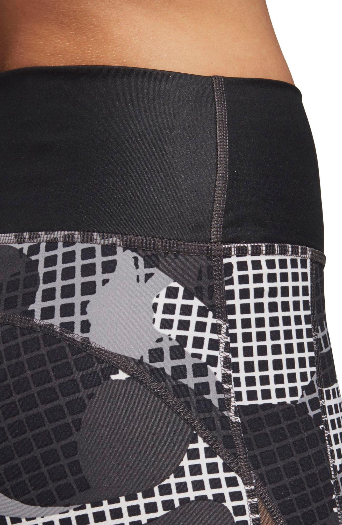 Heatracer Leggings,                             Alternate thumbnail 5, color,                             BLACK/ PRINT