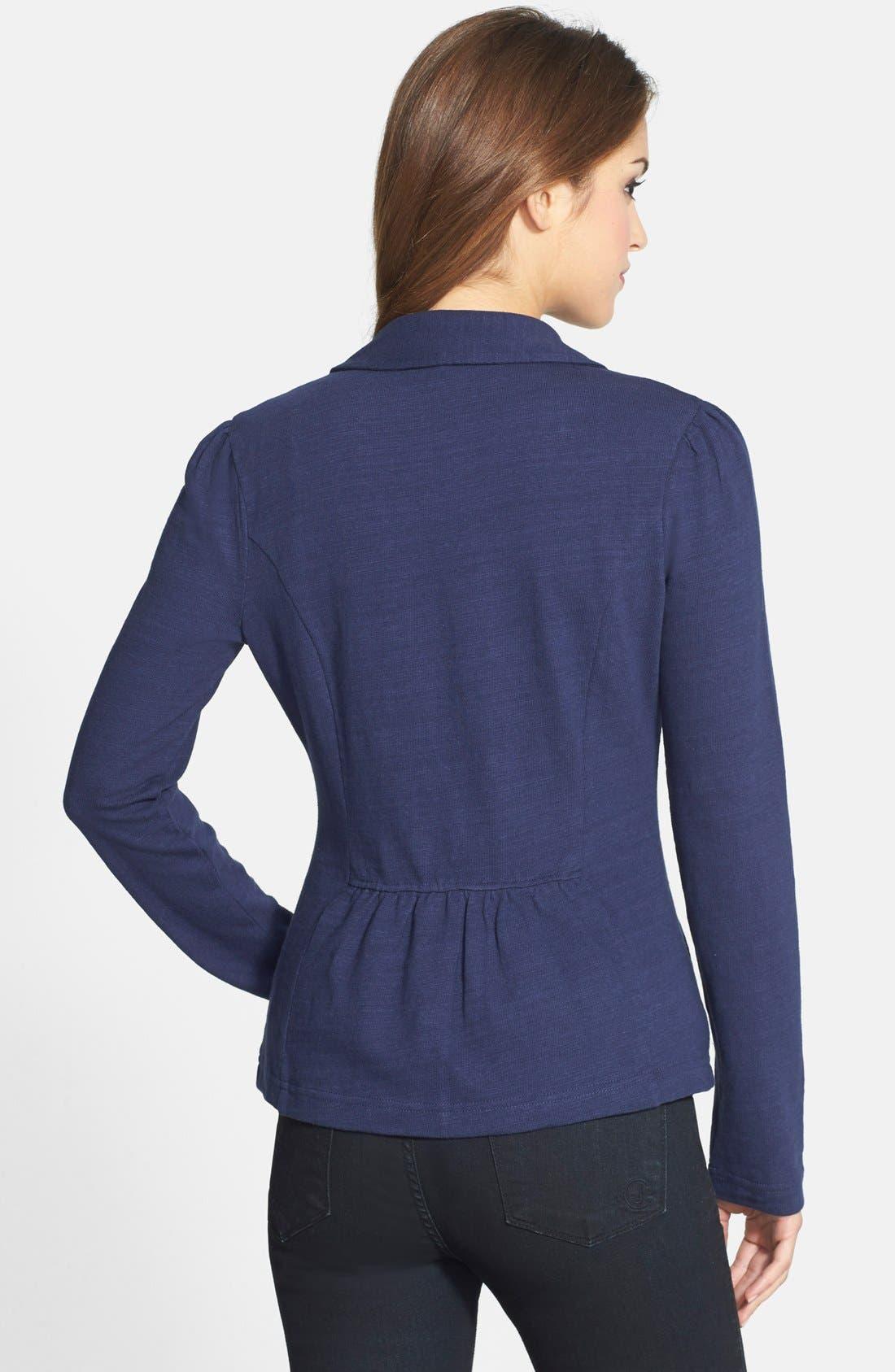Knit One-Button Blazer,                             Alternate thumbnail 112, color,