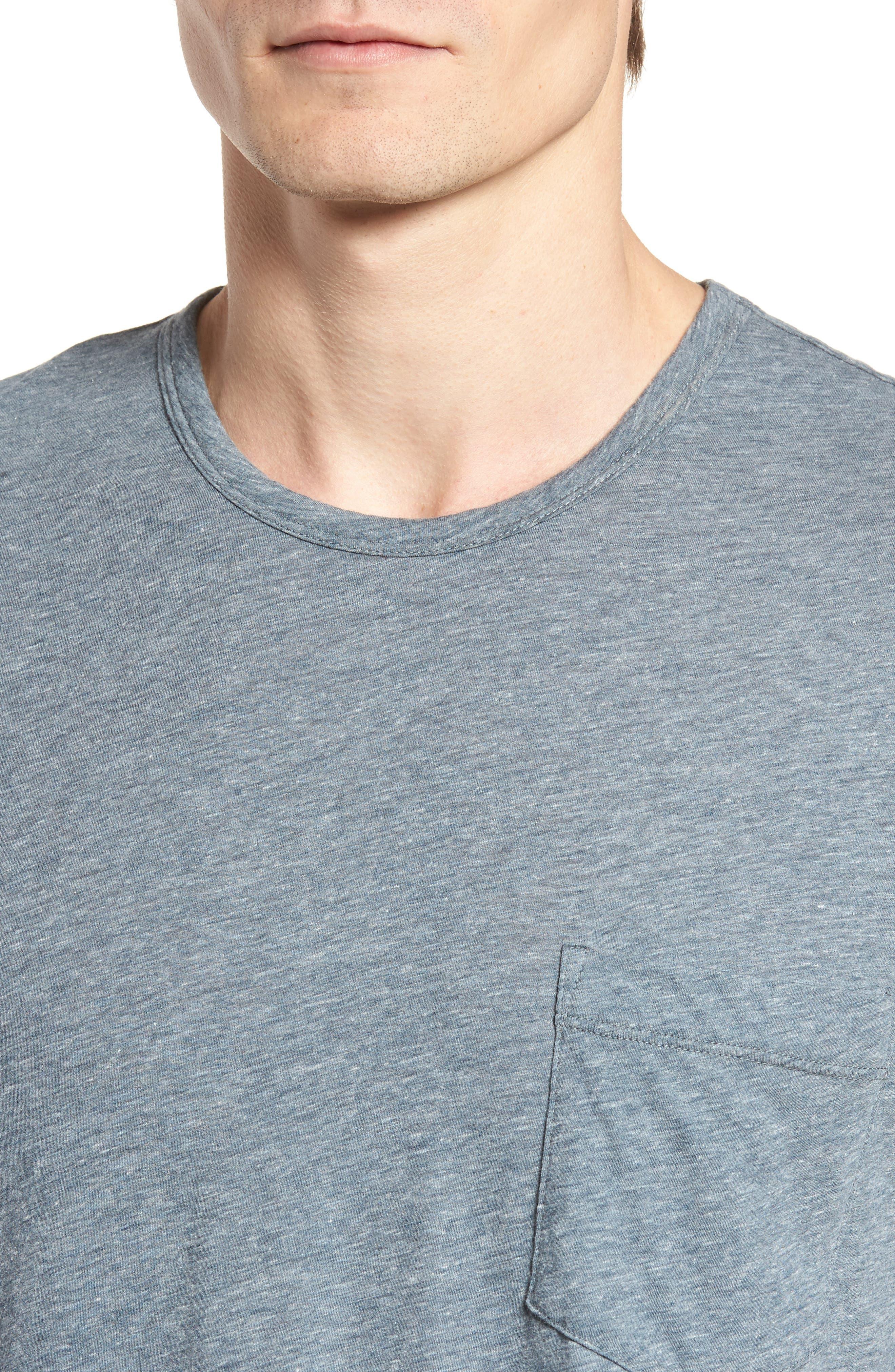 Slubbed Cotton & Linen Pocket T-Shirt,                             Alternate thumbnail 11, color,