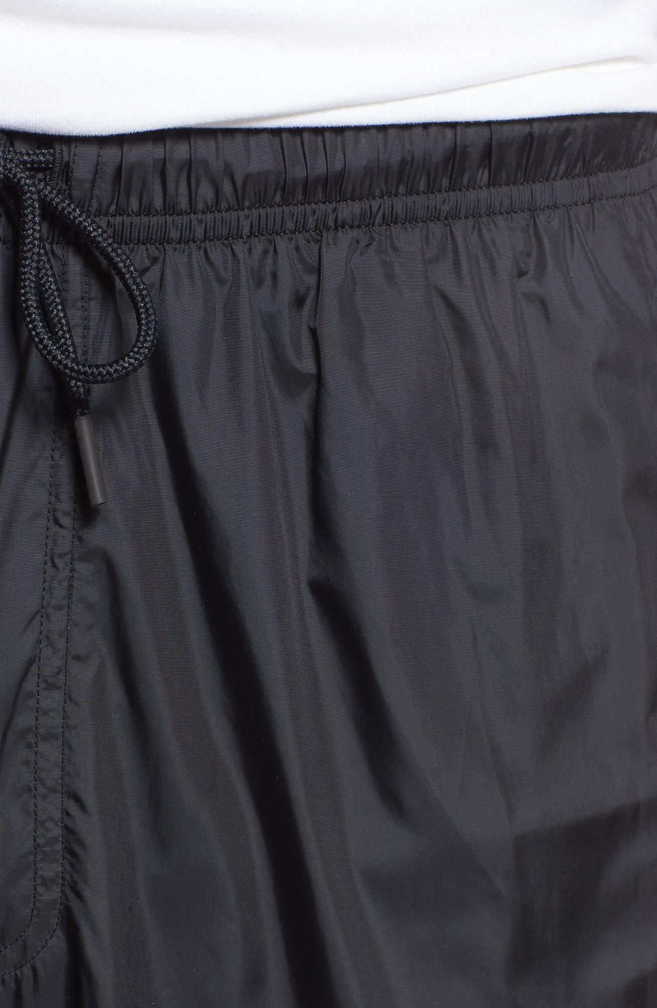 UNDER ARMOUR,                             Sportstyle Wind Pants,                             Alternate thumbnail 4, color,                             BLACK