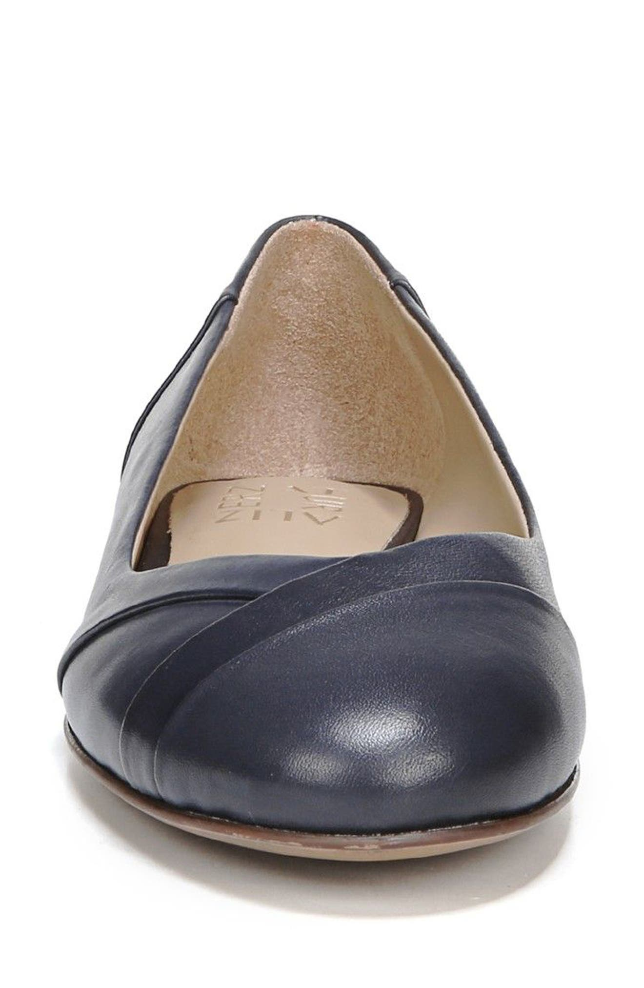 Gilly Flat,                             Alternate thumbnail 4, color,                             NAVY LEATHER