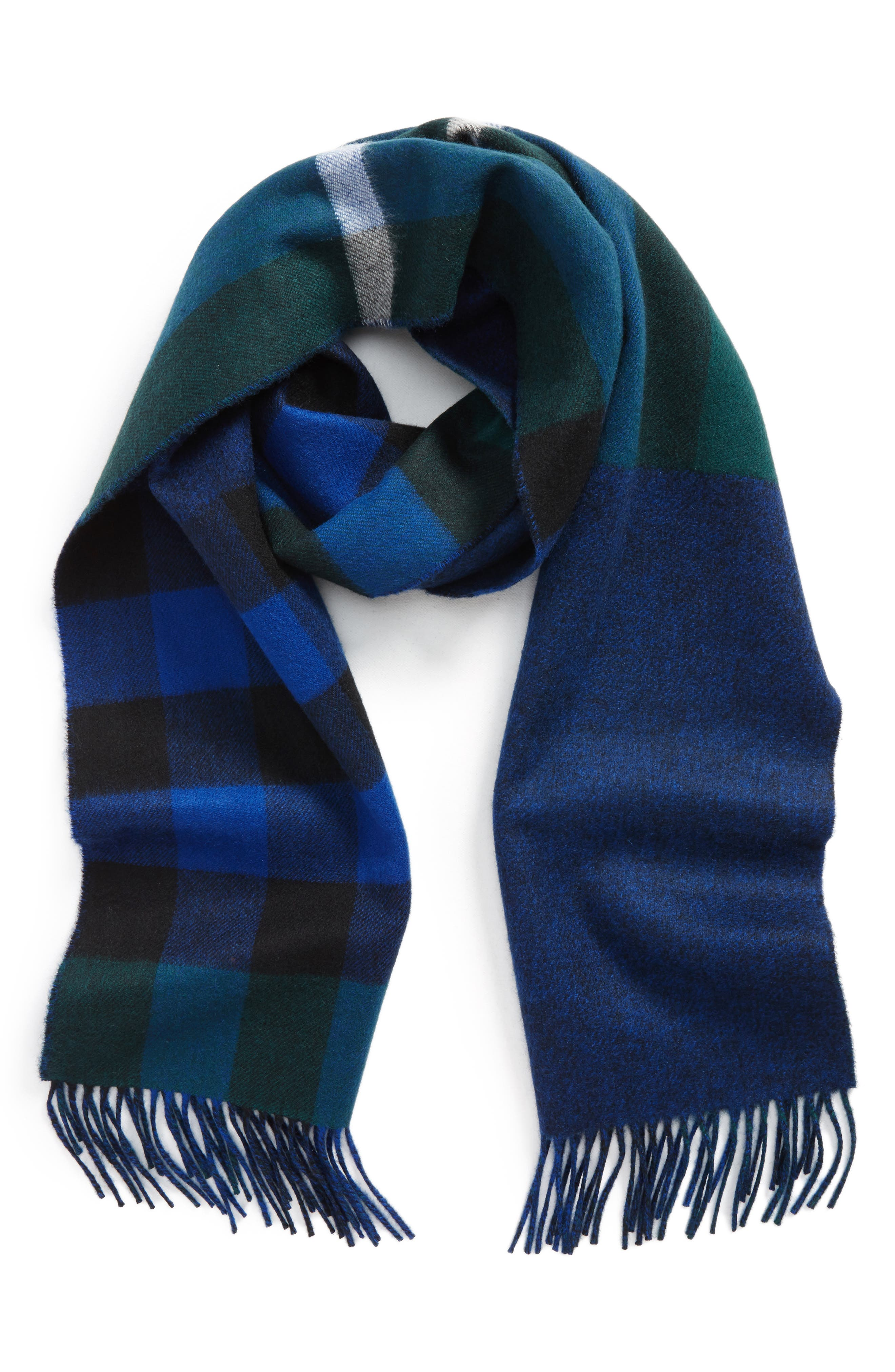 Reversible Mega Check Cashmere Scarf,                             Main thumbnail 1, color,                             377