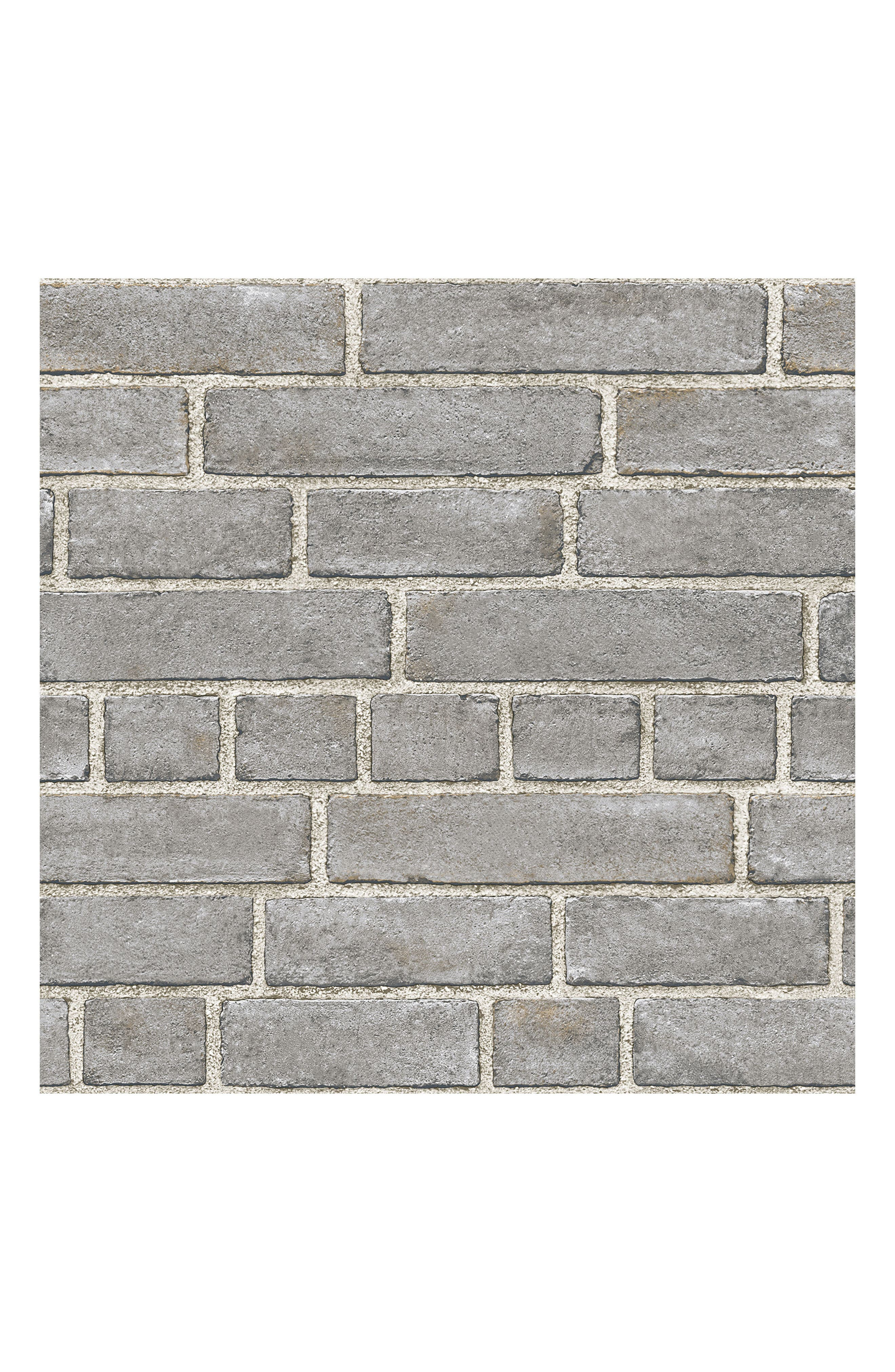 Grey Brick Fade Peel & Stick Vinyl Wallpaper,                         Main,                         color, 020