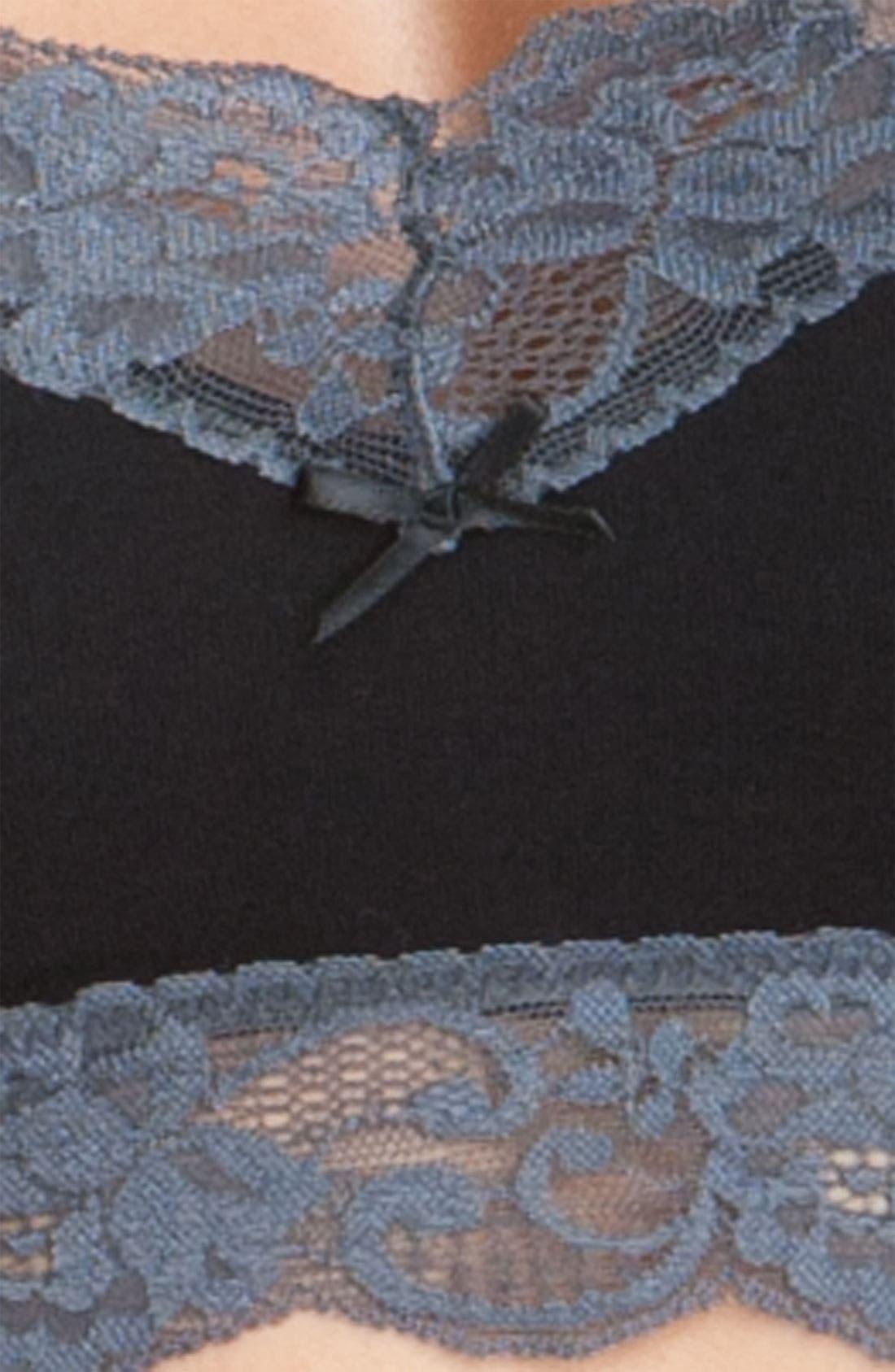KENSIE,                             'Jamie' Lace Trim Bralette,                             Alternate thumbnail 2, color,                             001