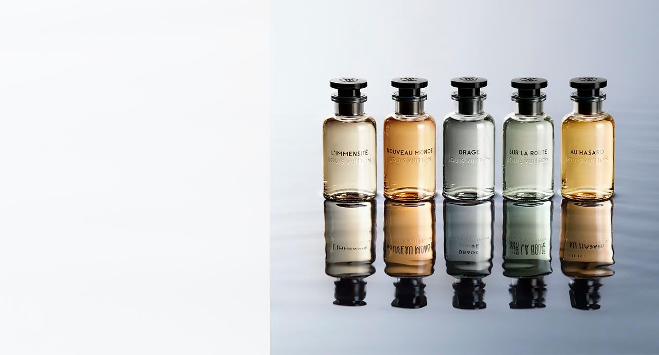 Introducing Les Parfums Louis Vuitton for men. Louis Vuitton in-store boutiques.