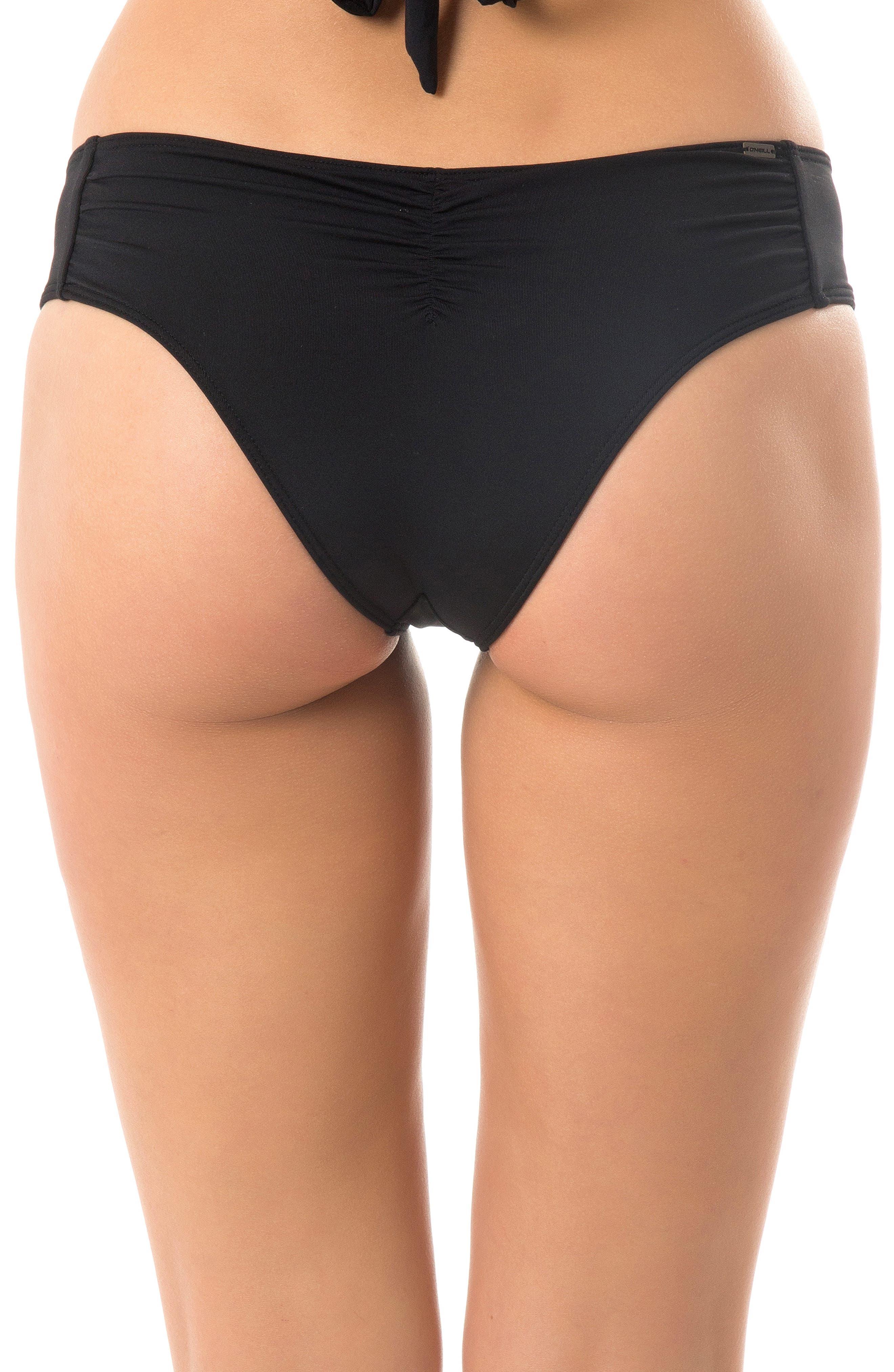 Salt Water Solids Hipster Bikini Bottoms,                             Alternate thumbnail 2, color,                             BLACK
