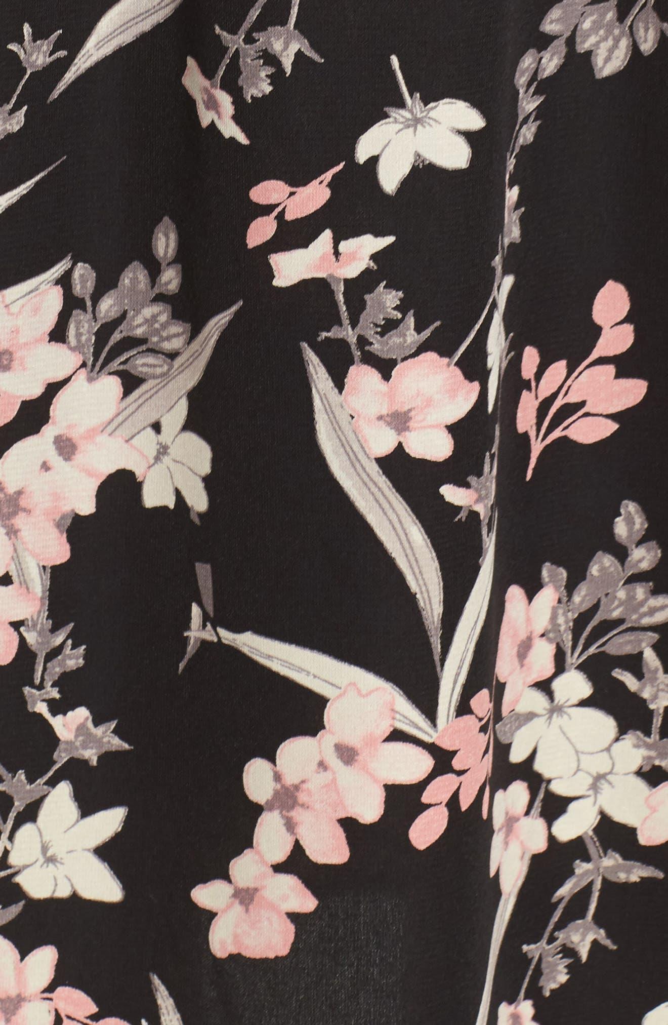 Blouson Midi Dress,                             Alternate thumbnail 5, color,                             IRIS