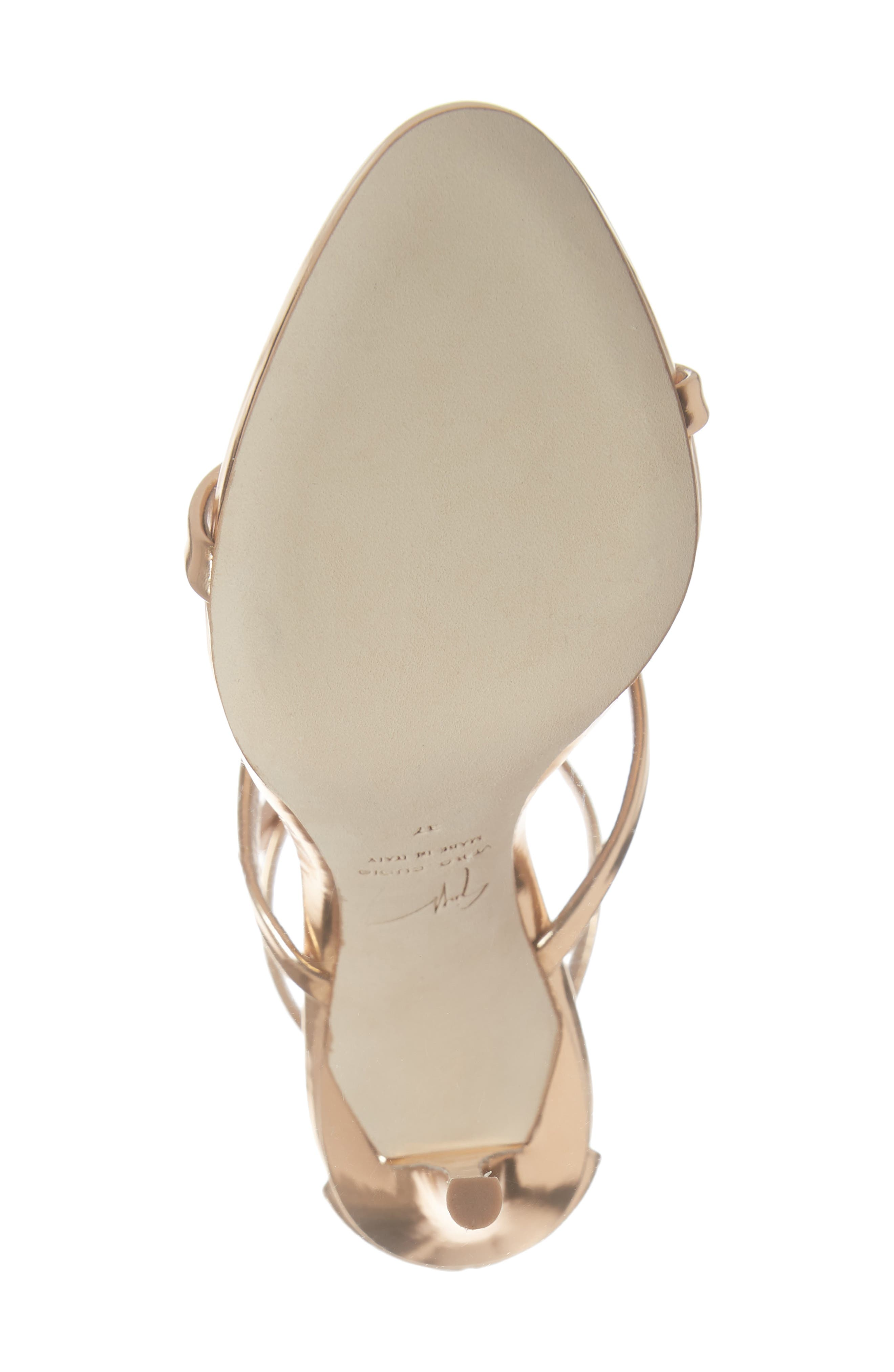 Triple Heart Strappy Sandal,                             Alternate thumbnail 6, color,                             ROSE GOLD