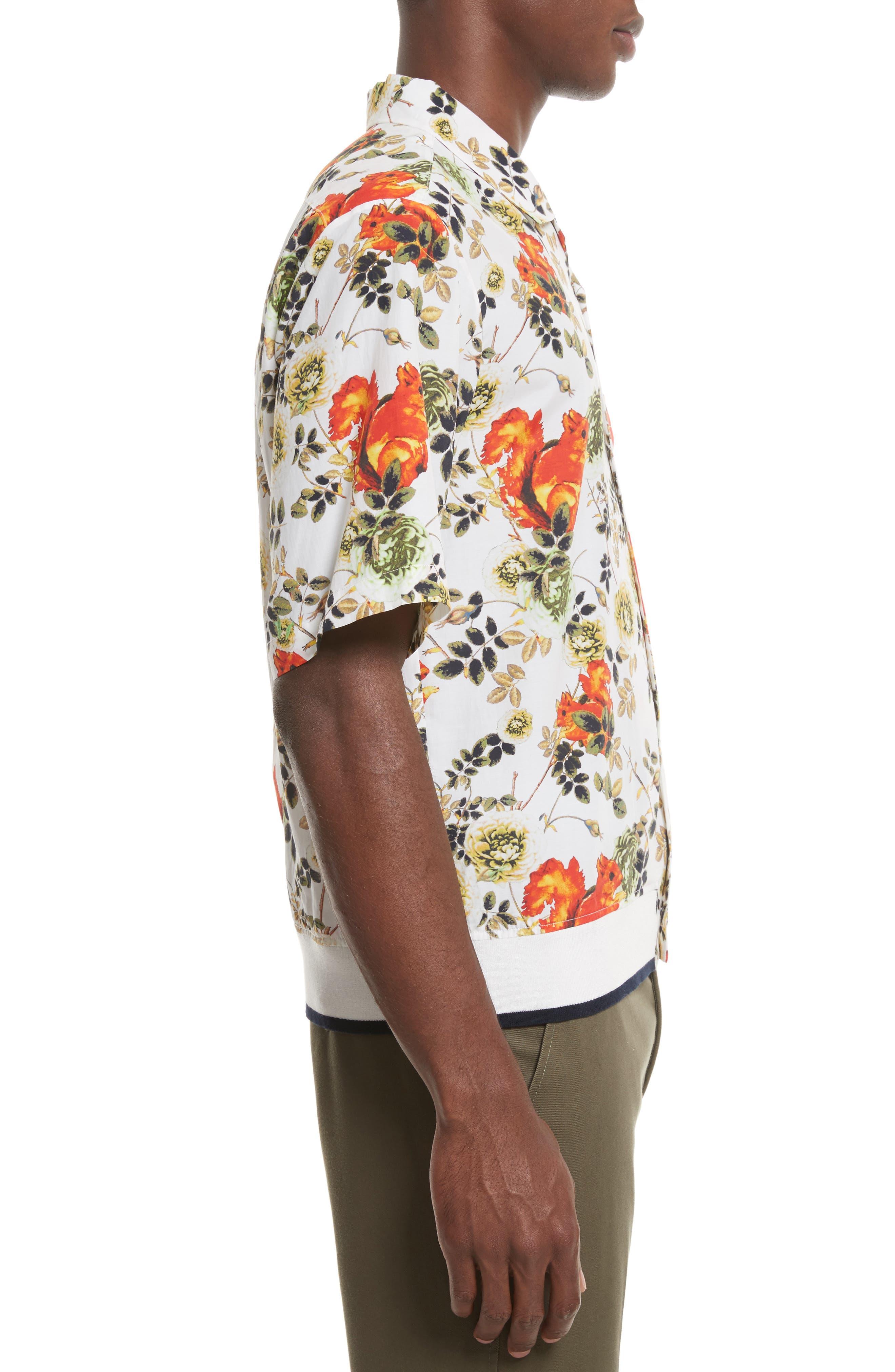 Floral Souvenir Shirt,                             Alternate thumbnail 4, color,                             191