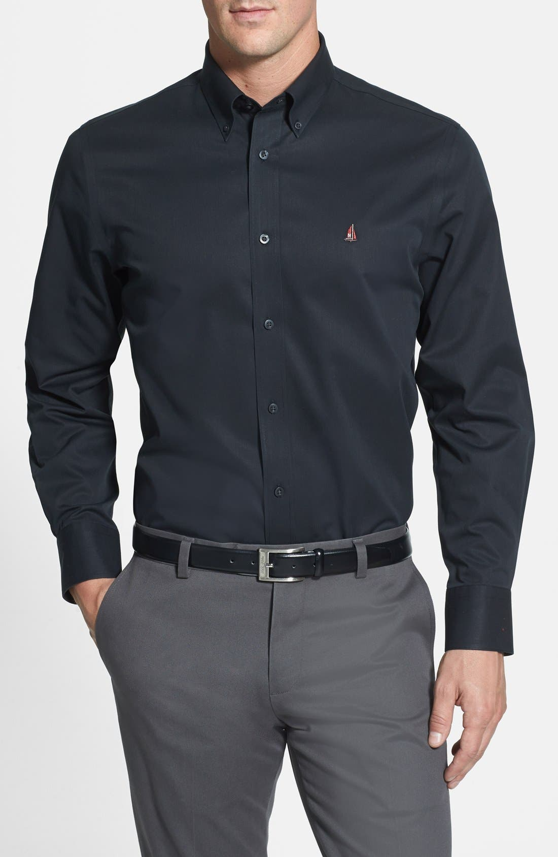 Smartcare<sup>™</sup> Traditional Fit Twill Boat Shirt,                             Main thumbnail 5, color,