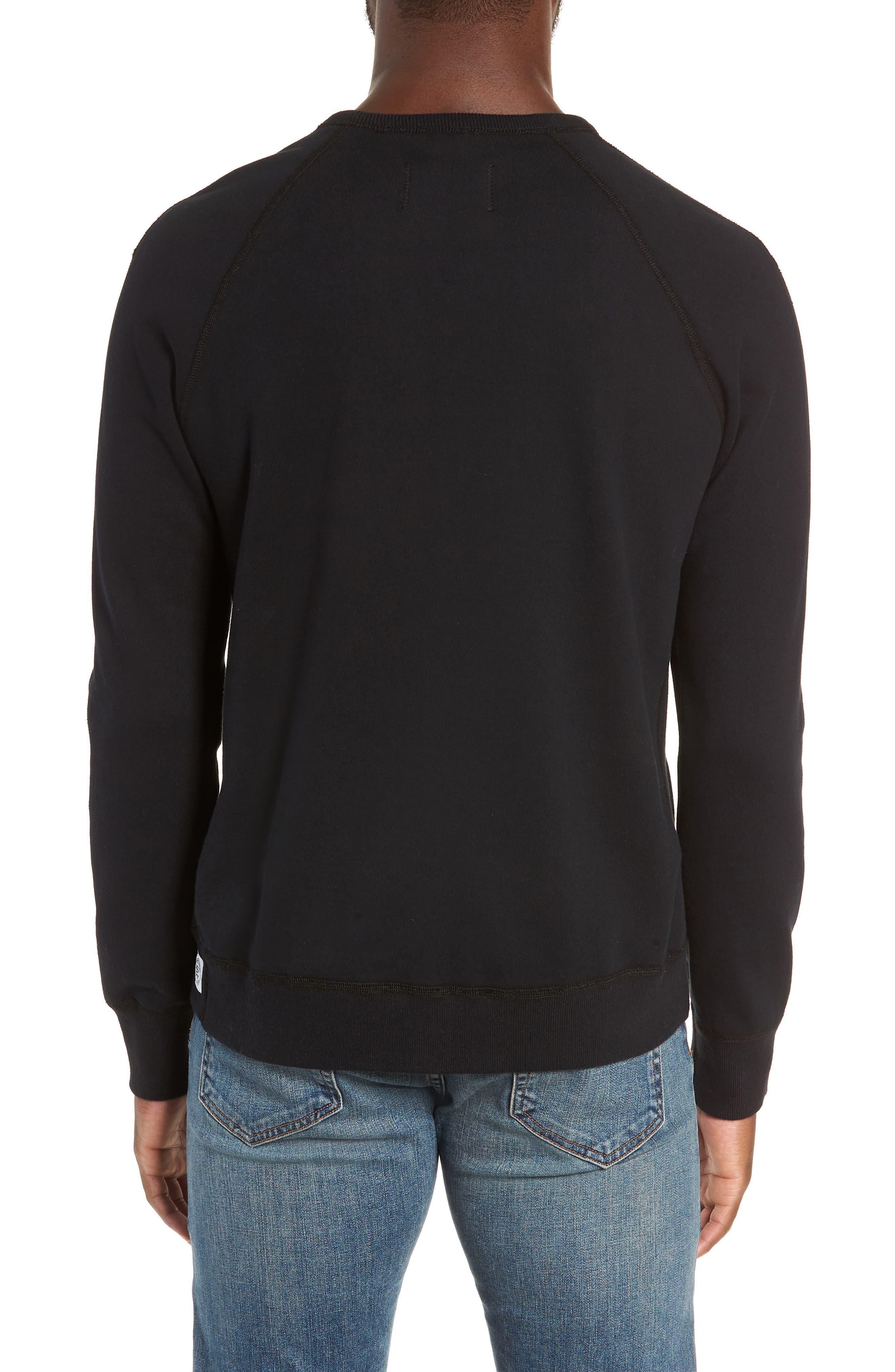 Gym Logo Sweatshirt,                             Alternate thumbnail 2, color,                             BLACK/ WHITE