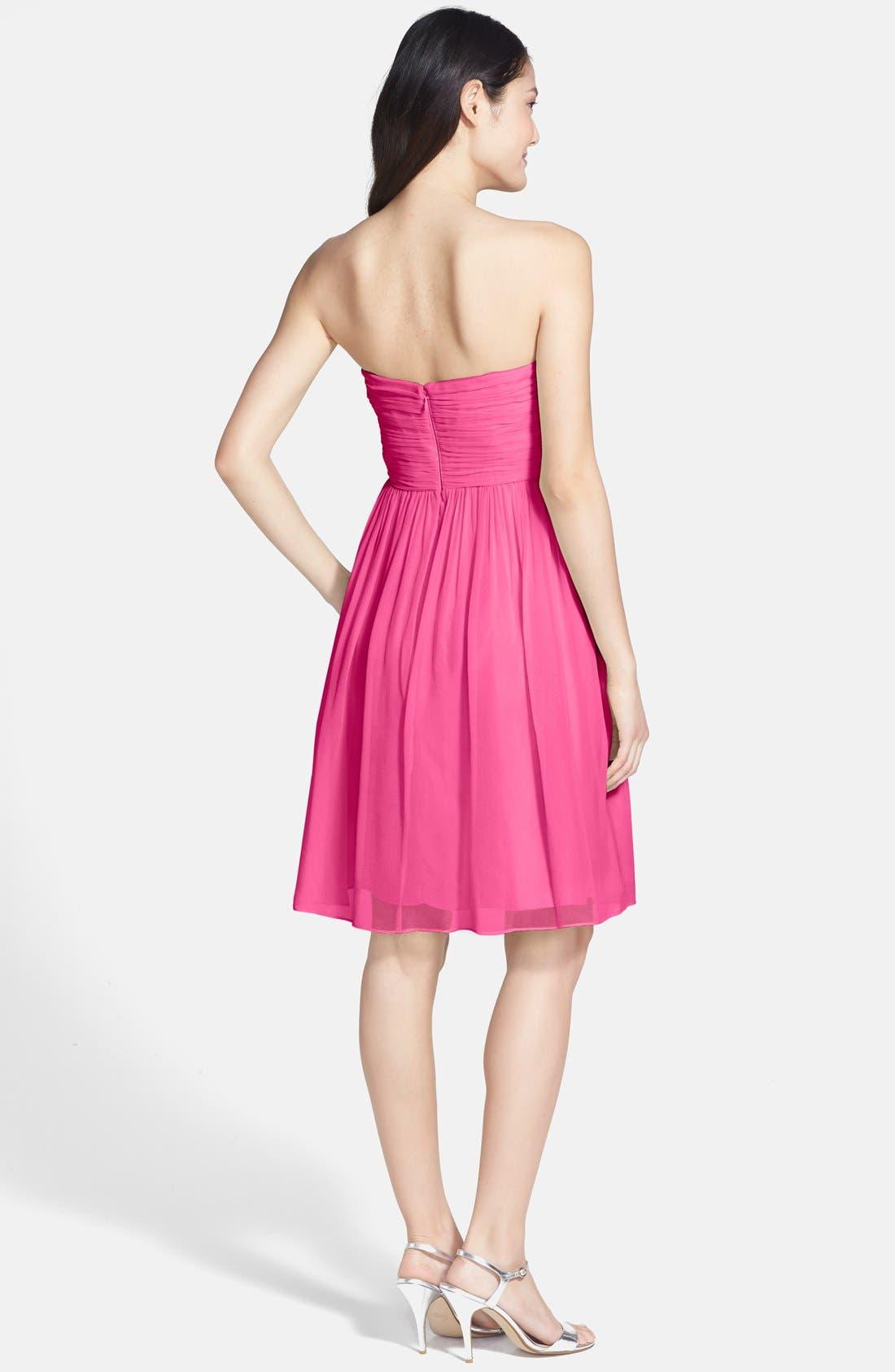 'Morgan' Strapless Silk Chiffon Dress,                             Alternate thumbnail 66, color,
