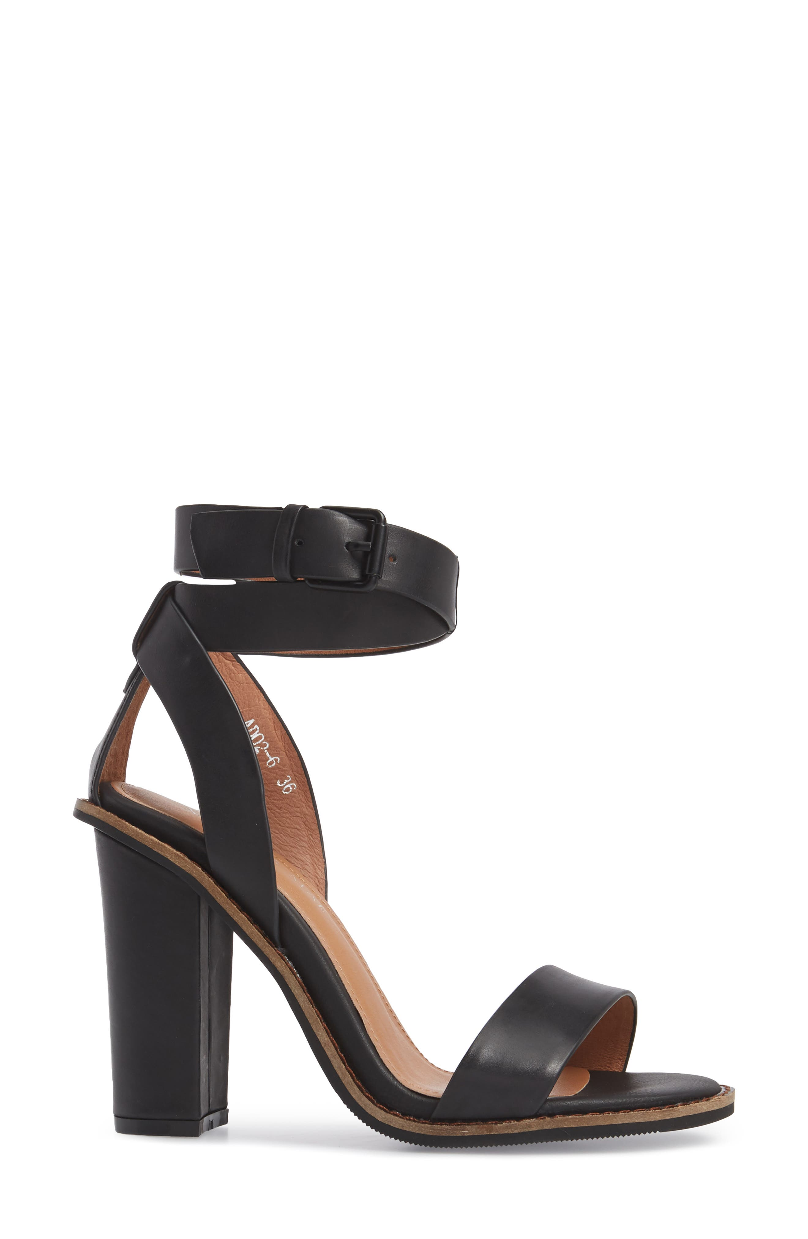 Calito Ankle Strap Sandal,                             Alternate thumbnail 3, color,                             001