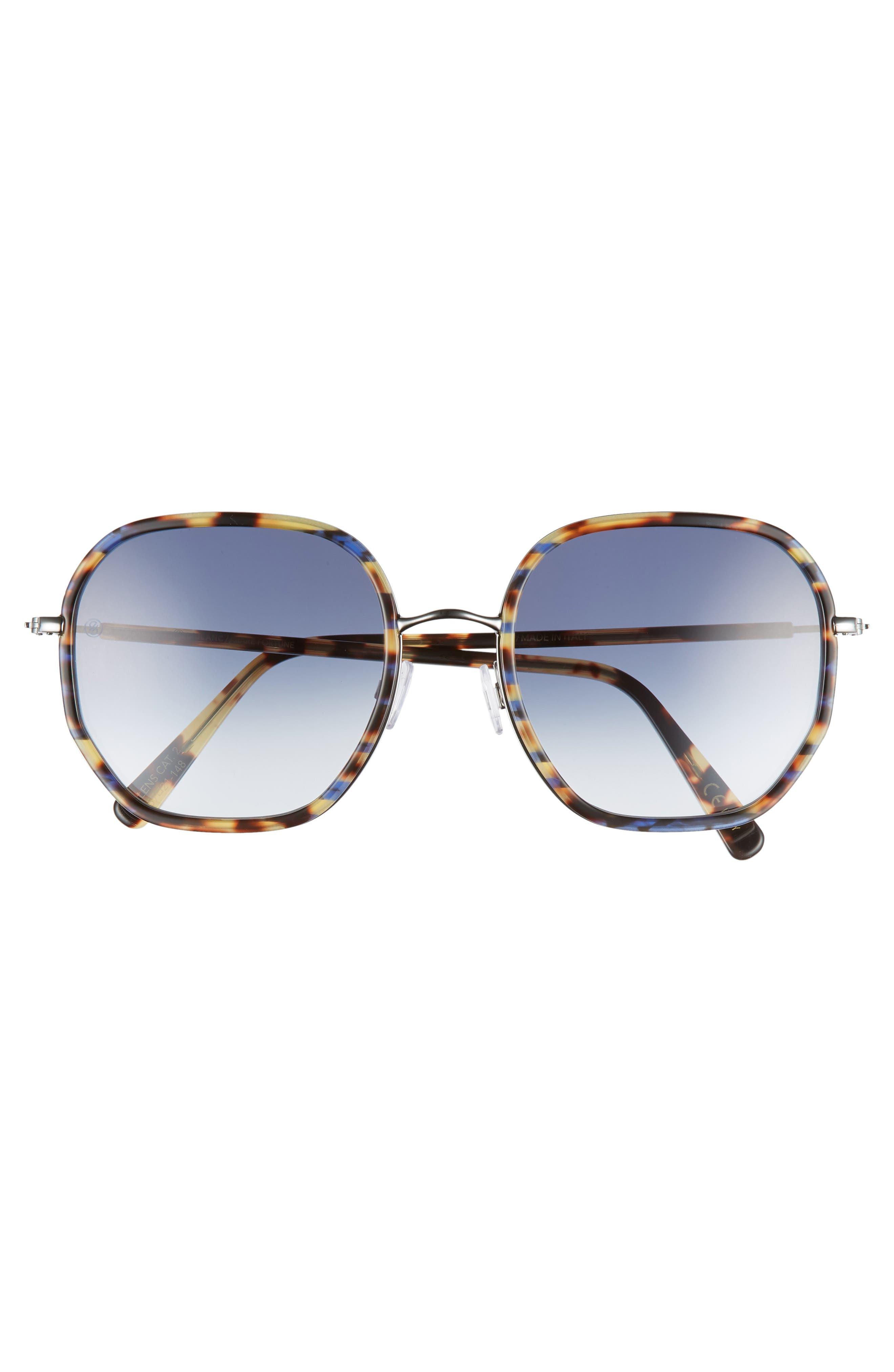 D'BLANC Rare Fortune 59mm Sunglasses,                             Alternate thumbnail 3, color,                             INDIGO TORTOISE