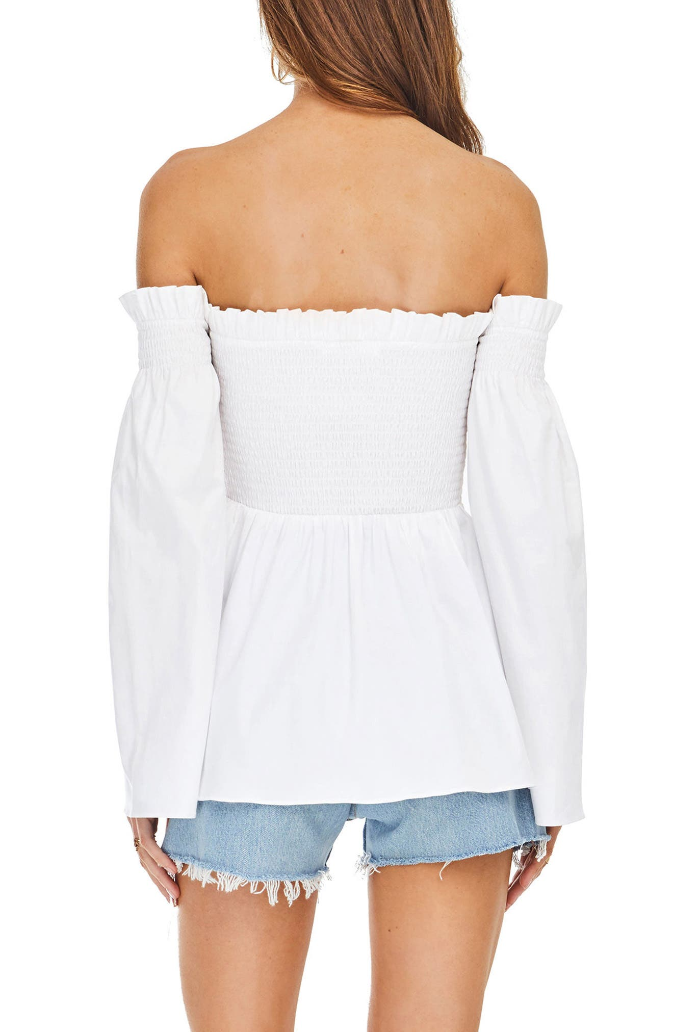 Shelby Off the Shoulder Top,                             Alternate thumbnail 2, color,                             100