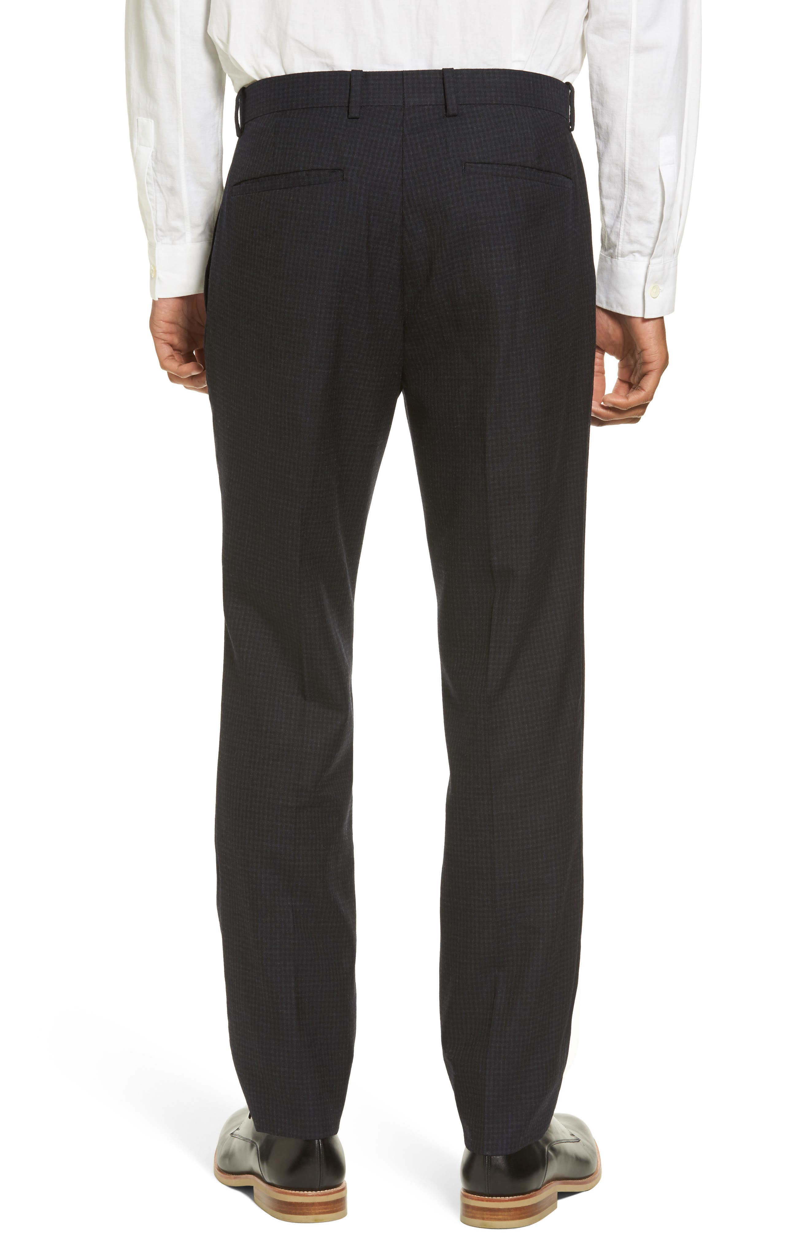 Jake Slim Fit Wool Flannel Pants,                             Alternate thumbnail 3, color,                             400