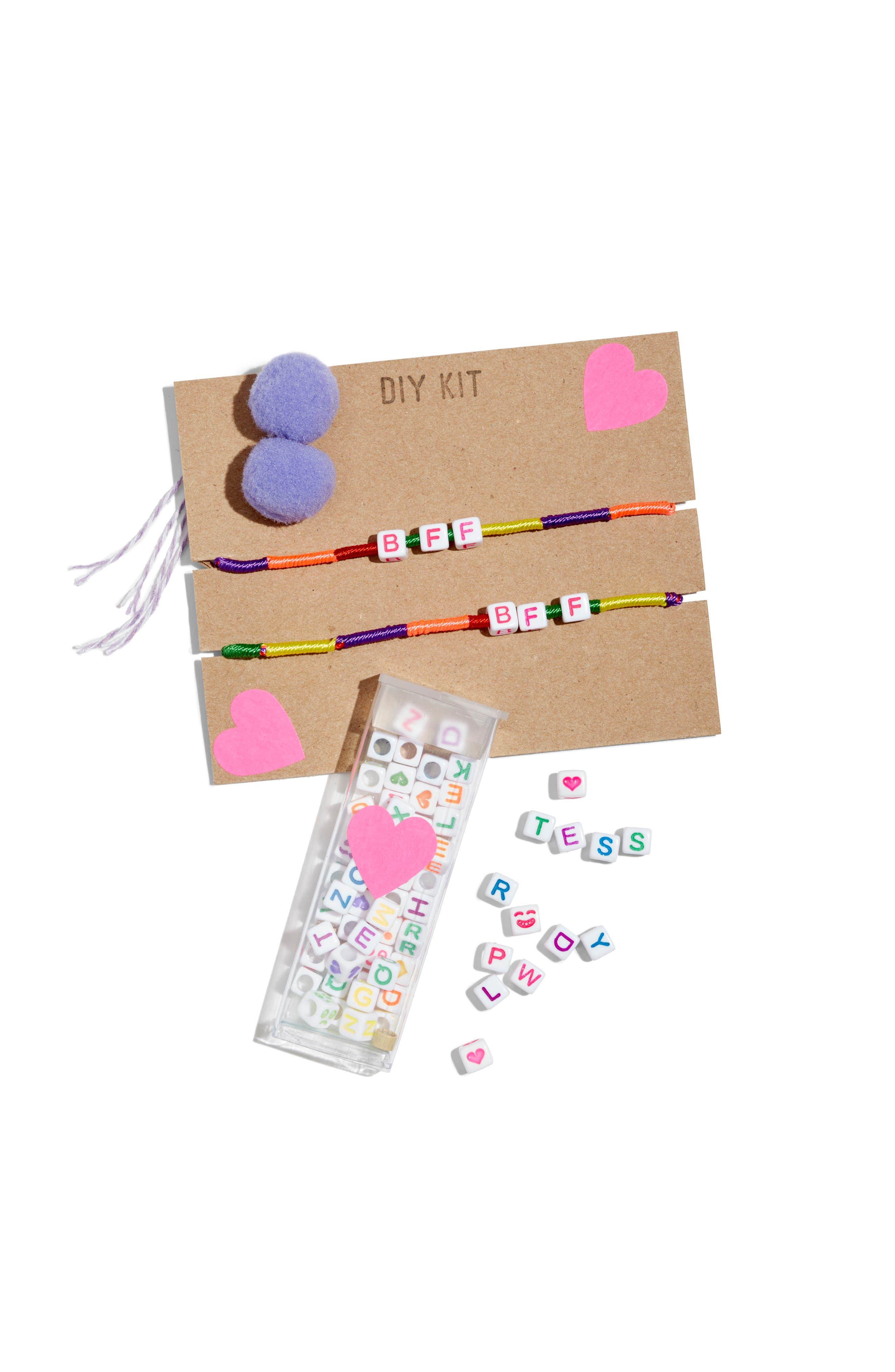 Jewels DIY BFF & Pompom Bracelet Kit,                             Main thumbnail 1, color,                             960