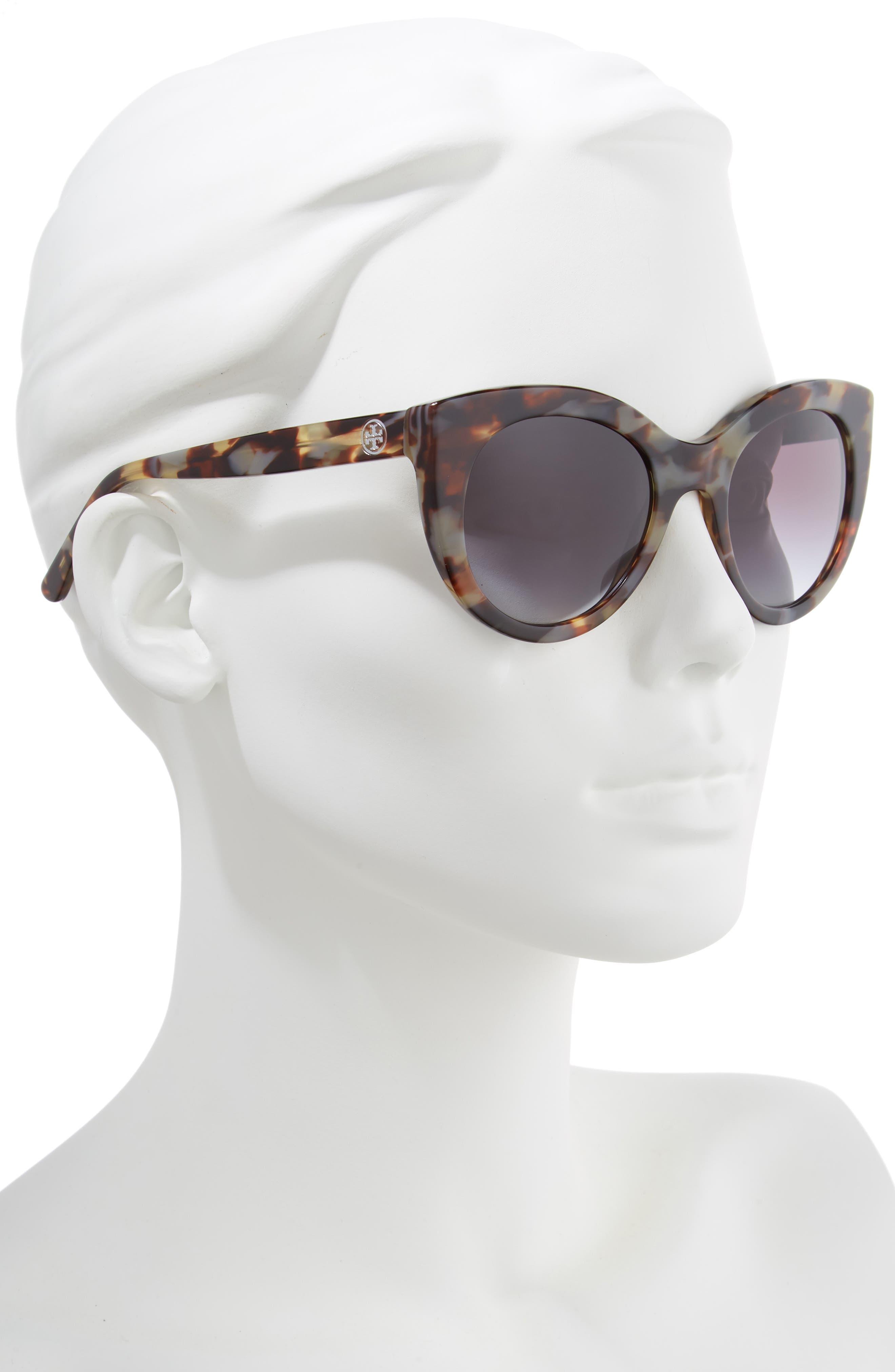 TORY BURCH,                             51mm Cat Eye Sunglasses,                             Alternate thumbnail 2, color,                             001