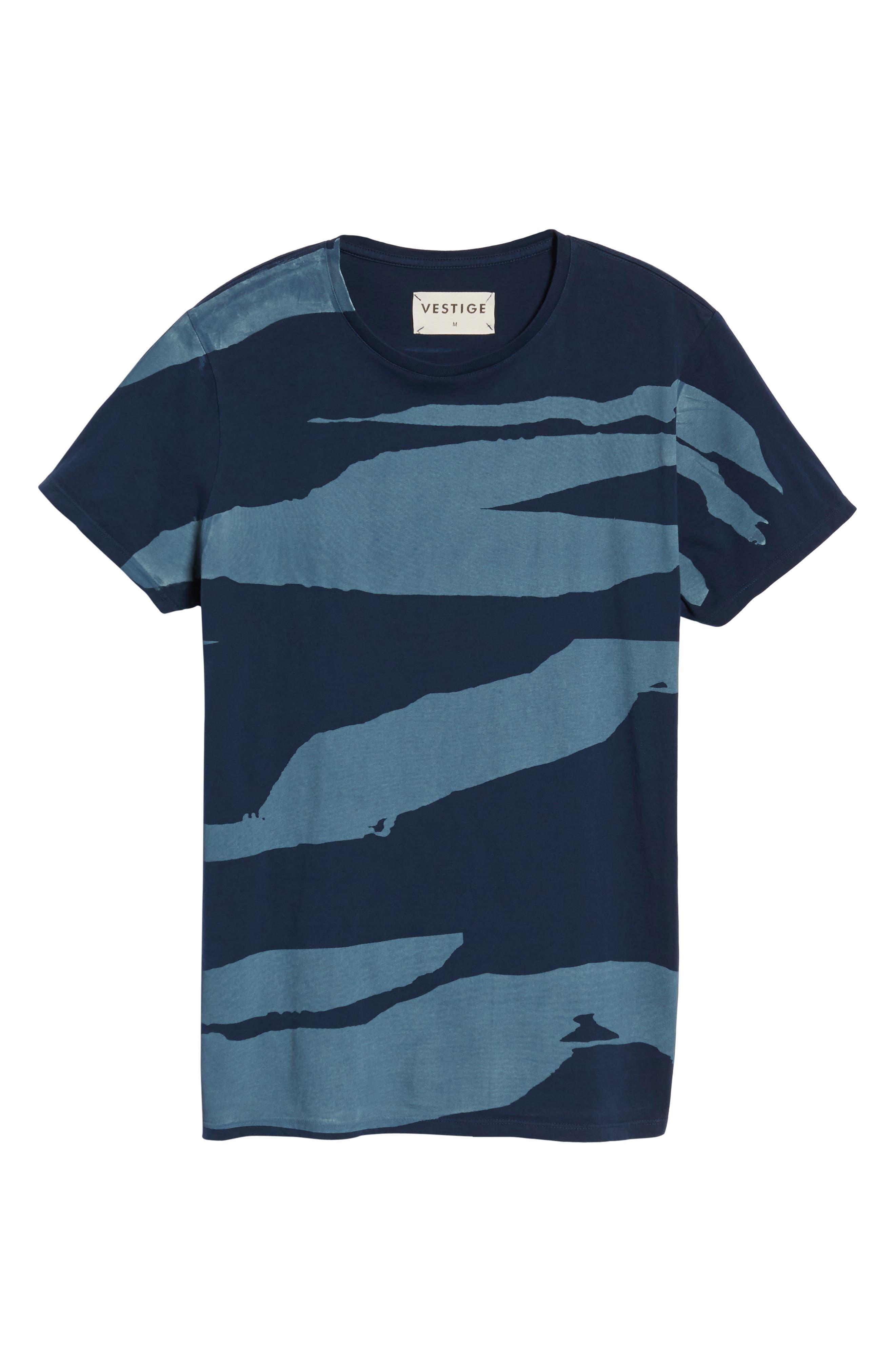 Torn Stripes T-Shirt,                             Alternate thumbnail 6, color,