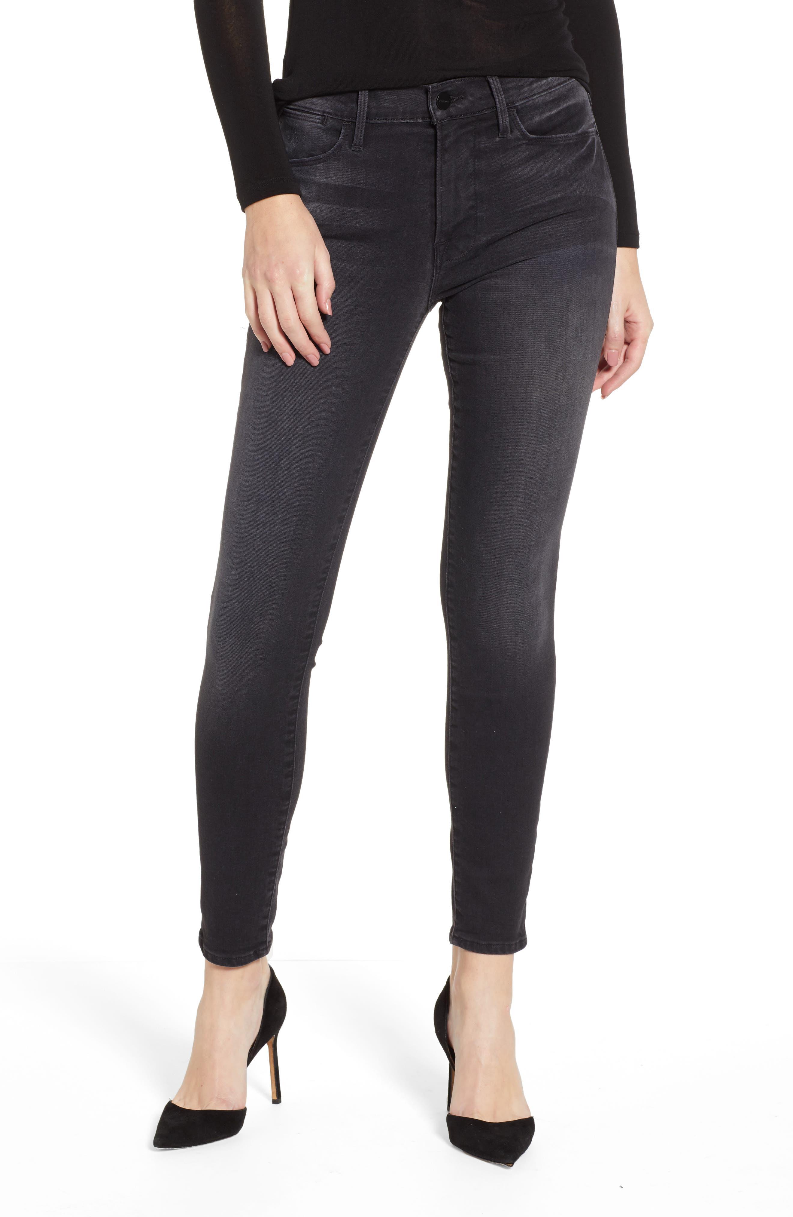 Le High Skinny Jeans,                         Main,                         color, NIGHTFALL
