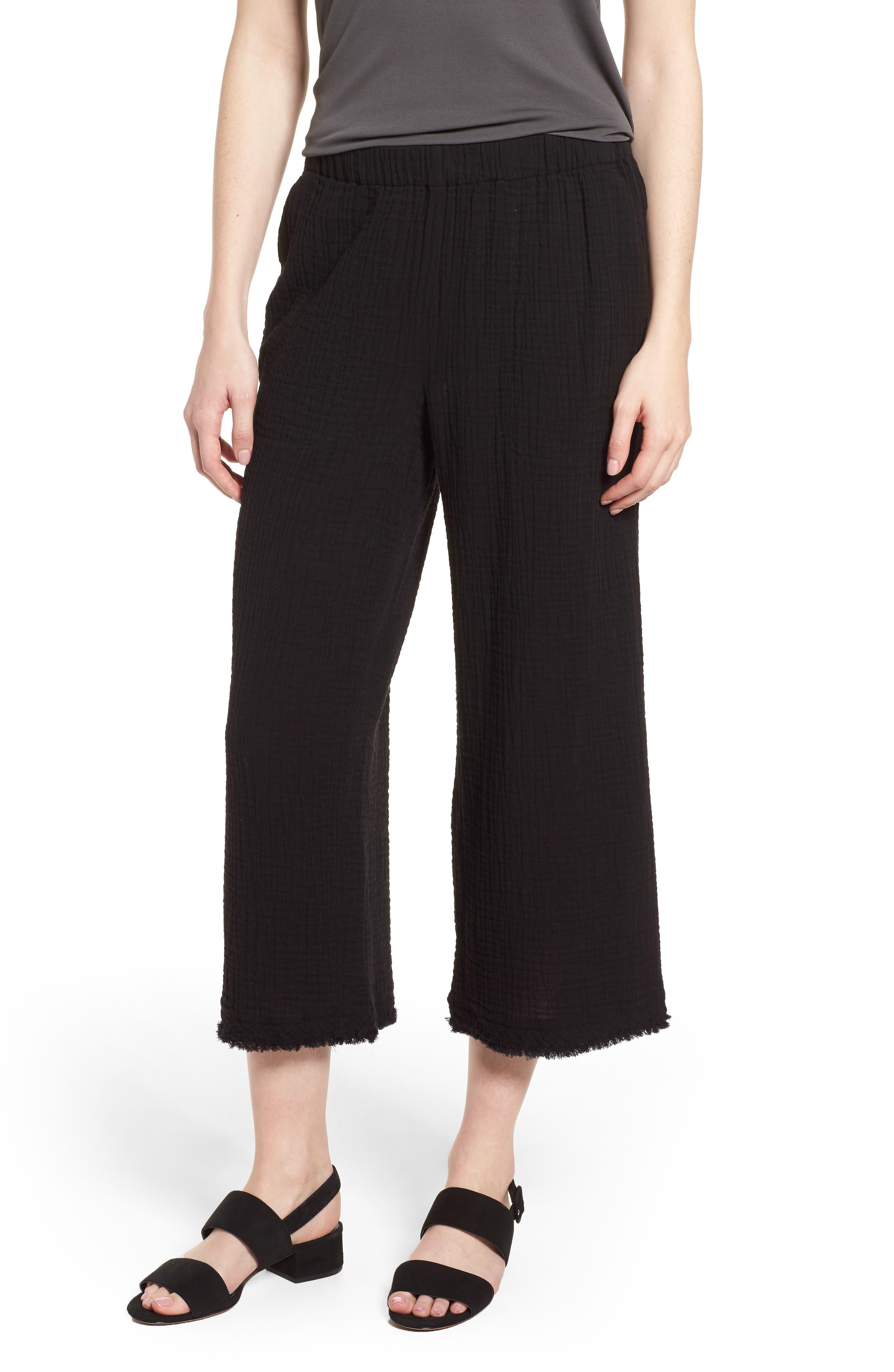 Organic Cotton Crop Pants,                         Main,                         color, 001